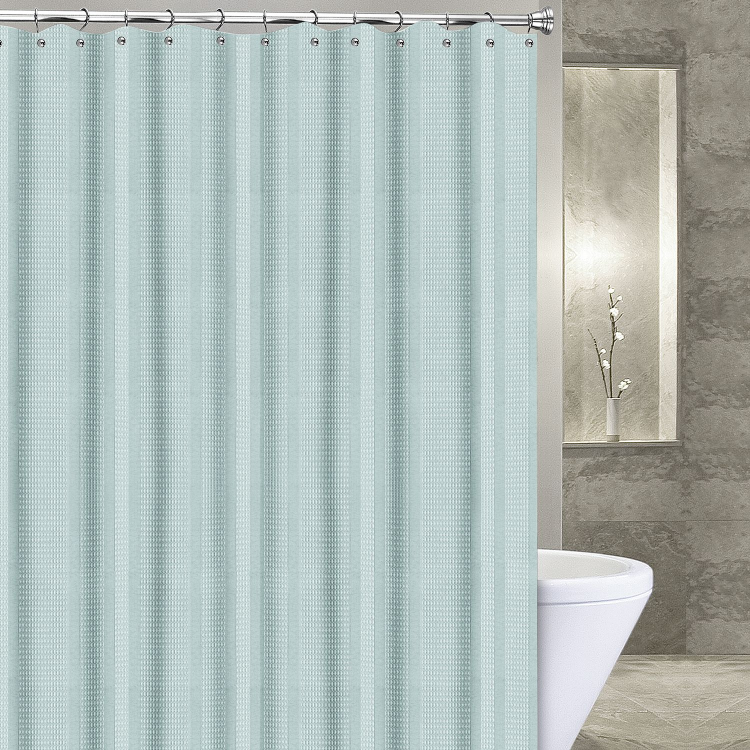 Glass Shower Curtains Popular Bath Products Waffle Stripe 6 X 6 Shower Curtain