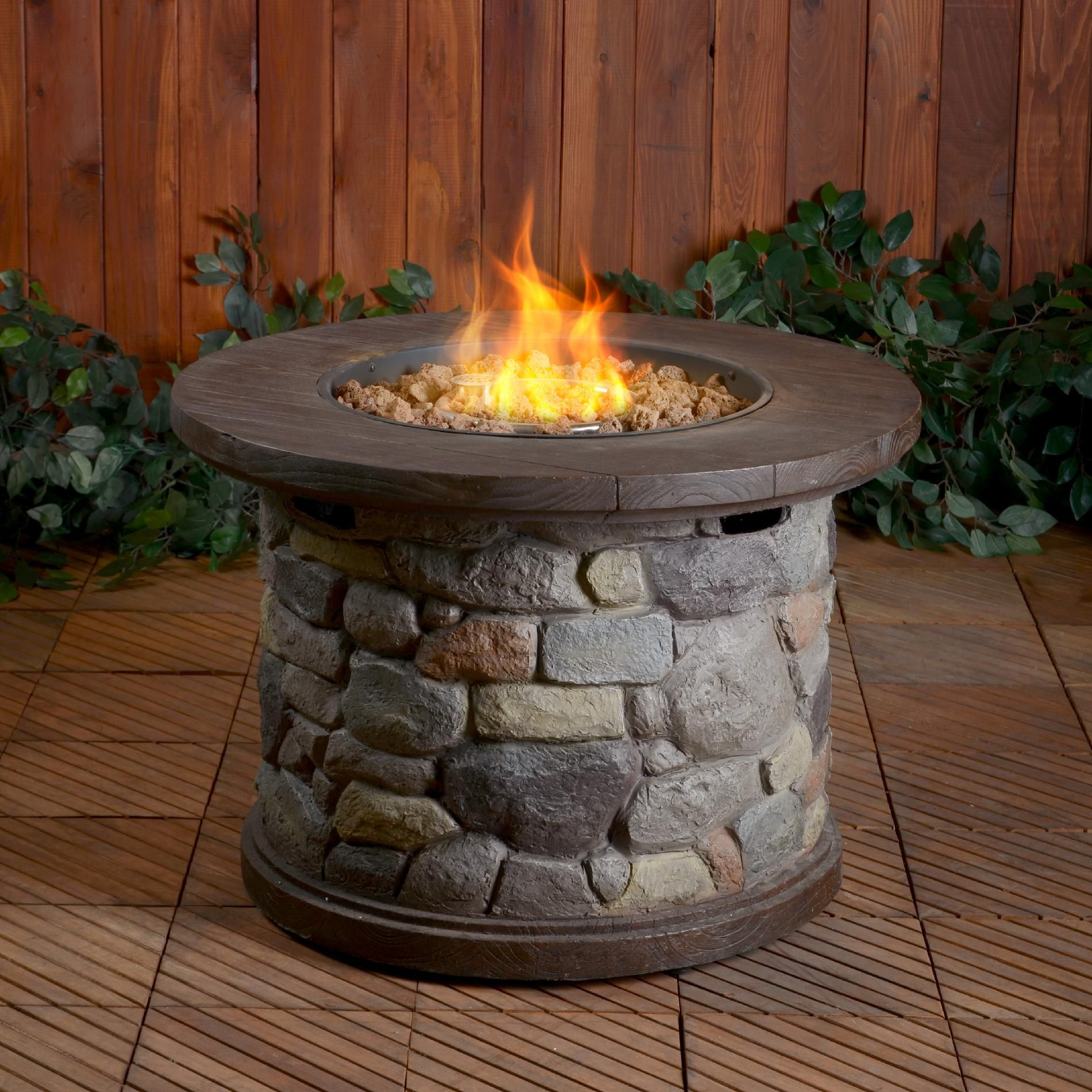 Fireplace Tables Outdoor Agora Outdoor Tile Top Gas Fire Pit