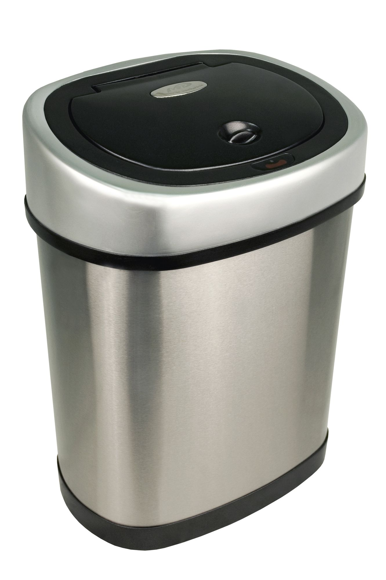 Modern Bathroom Trash Cans Nine Stars Infrared Motion Sensor Lid Open Trash Can