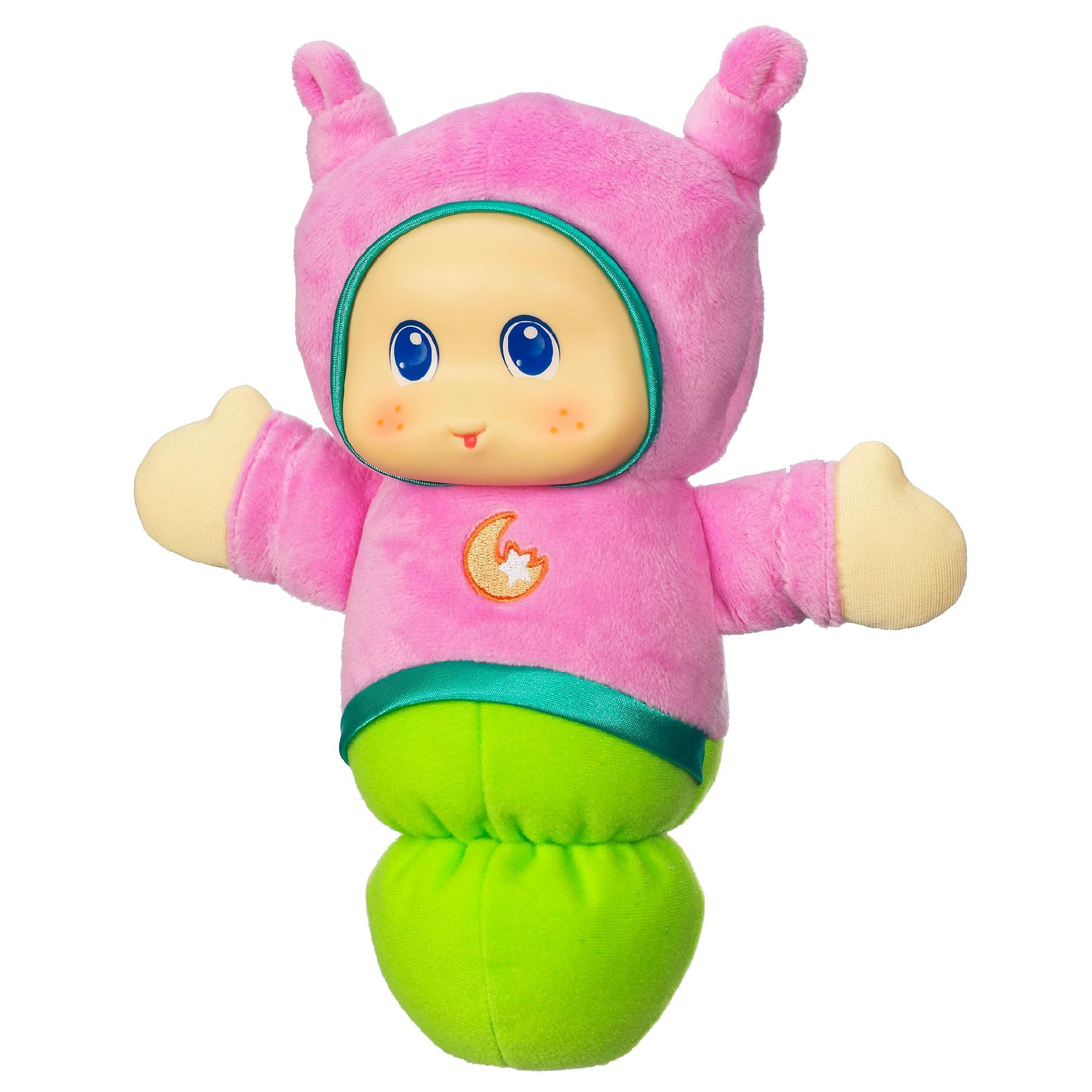 Glow Toys For Bedtime Playskool Play Favorites Lullaby Gloworm Toy Pink