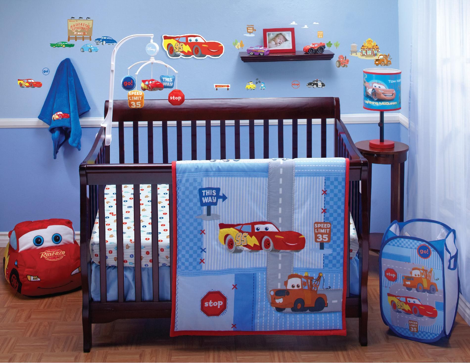 Disney Crib Bedding Set Cars Little Racer 4 Piece