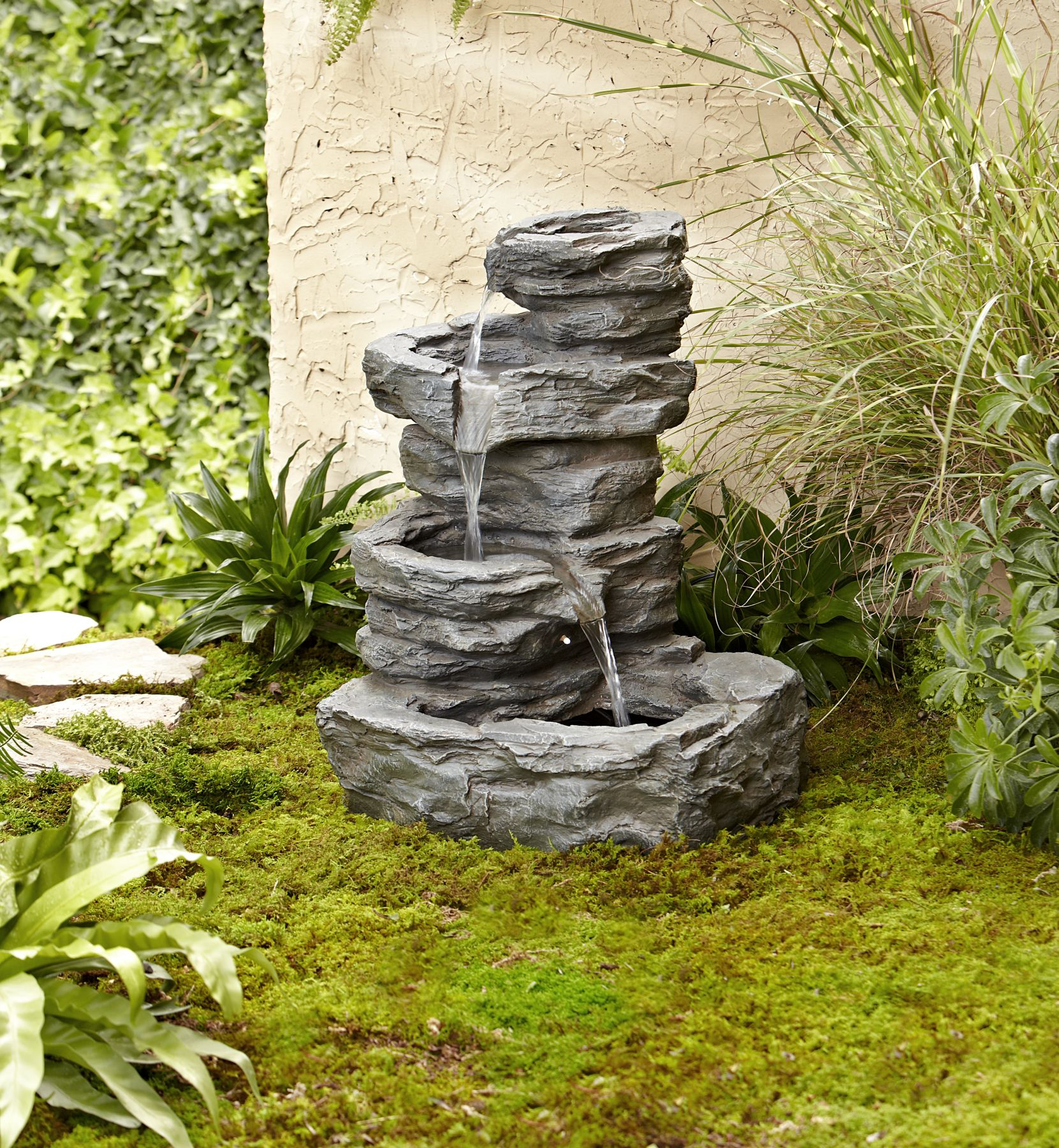 Gartengestaltung+online Tool Garden Oasis Rock Fountain With Led Light Shop Your Way