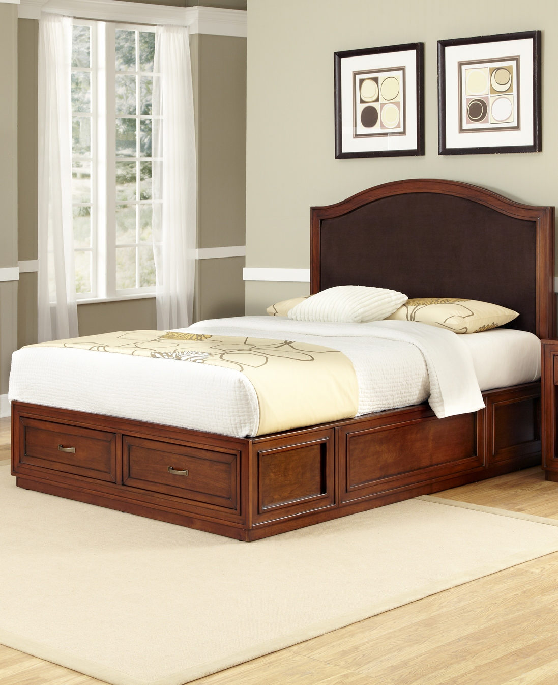 Home Styles Duet Platform King Bed Camelback Brown ...
