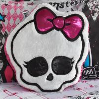 """Monster High 16"""" Skull Logo Girls' Accent Pillow"""