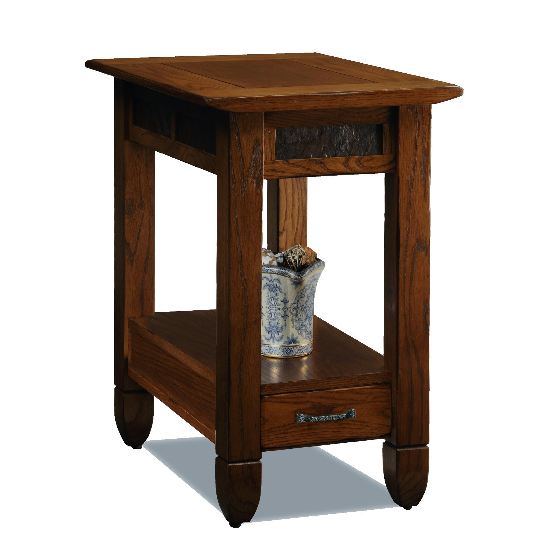 Finish Tables Leick Bin Pull Narrow Chairside End Table Candleglow