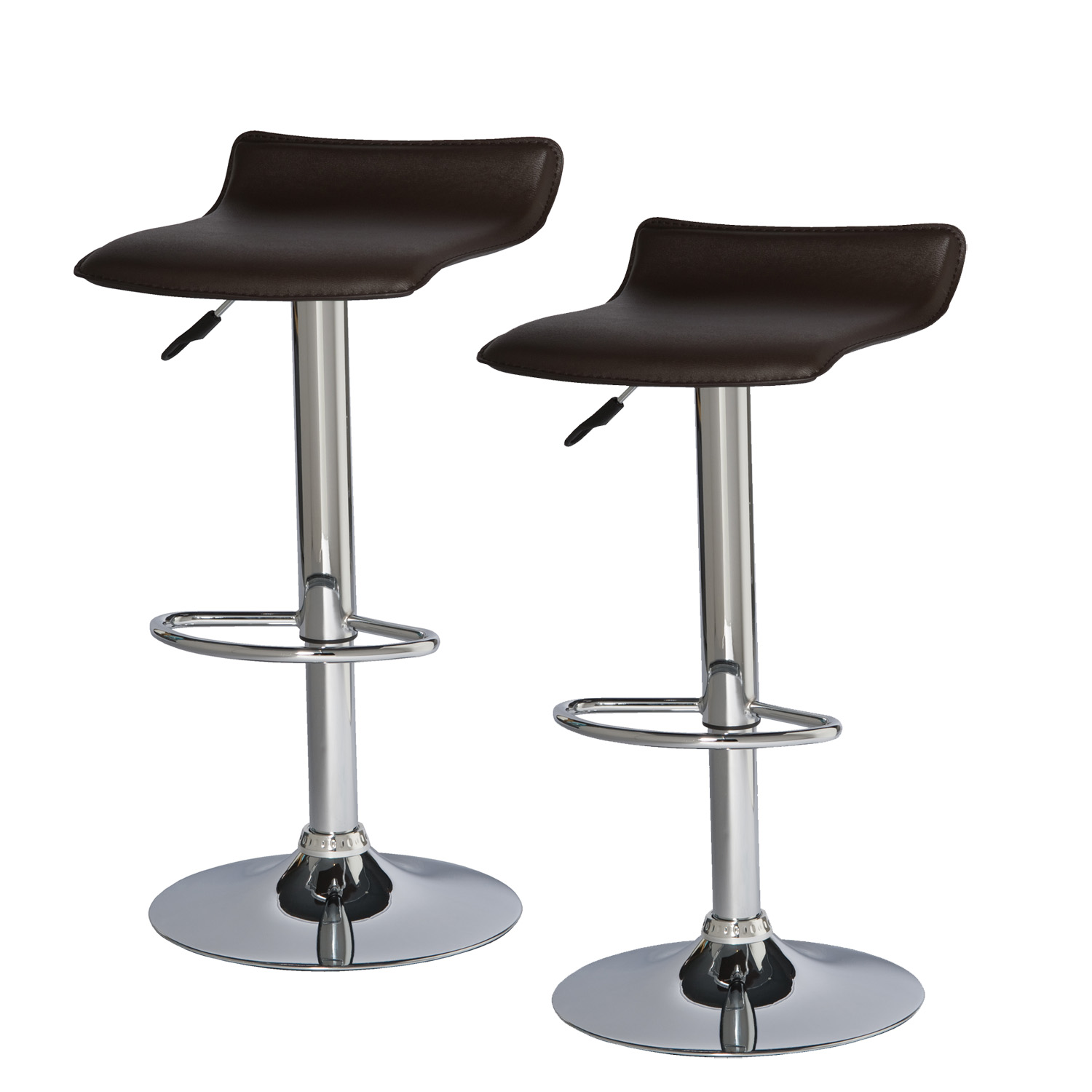 Brown Adjustable Bar Stool Leick Furniture Leick Deep Brown Adjustable Height Swivel
