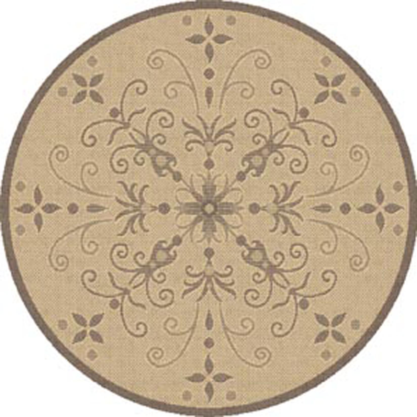 Round Rug Kmart Dynamic Rugs Piazza 5 3 Round Rug Natural Brown