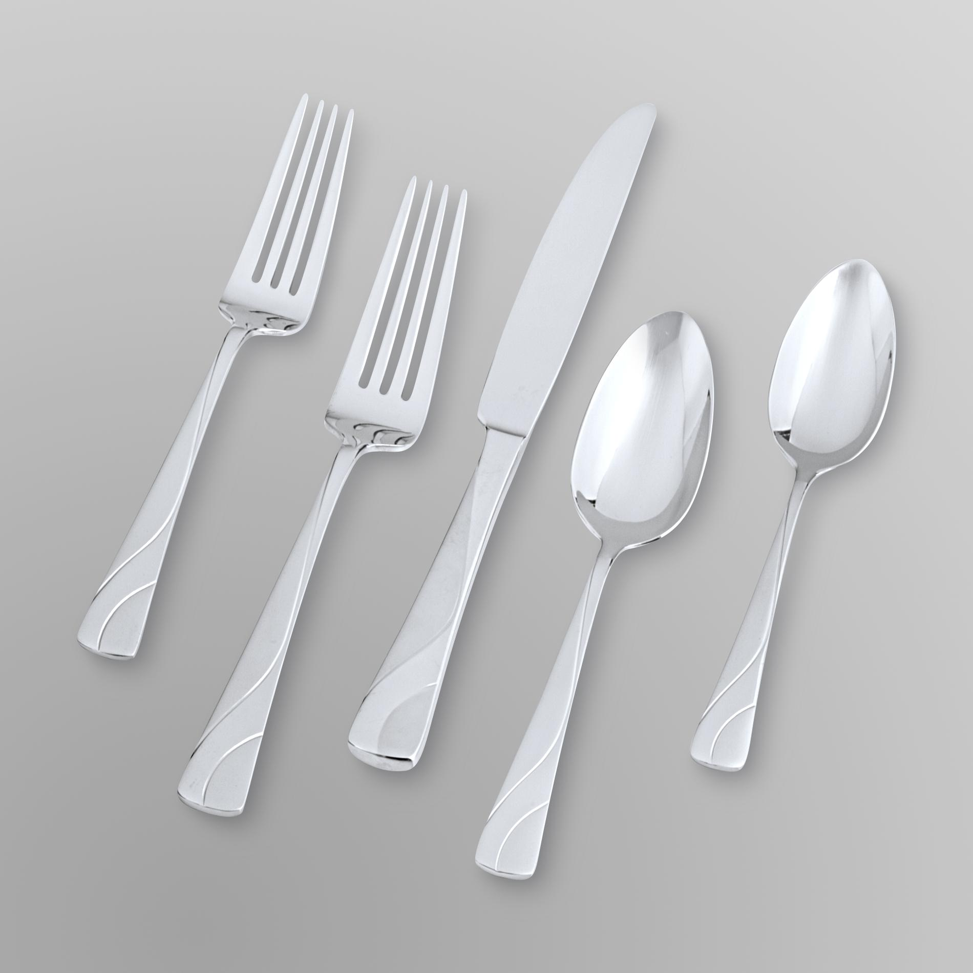 Elegant Flatware Sets Stainless Steel Flatware Set Dine In Elegant Style With Kmart