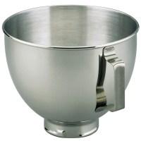 KitchenAid K45SBWH 4.5 Quart Stainless Steel Mixing Bowl ...