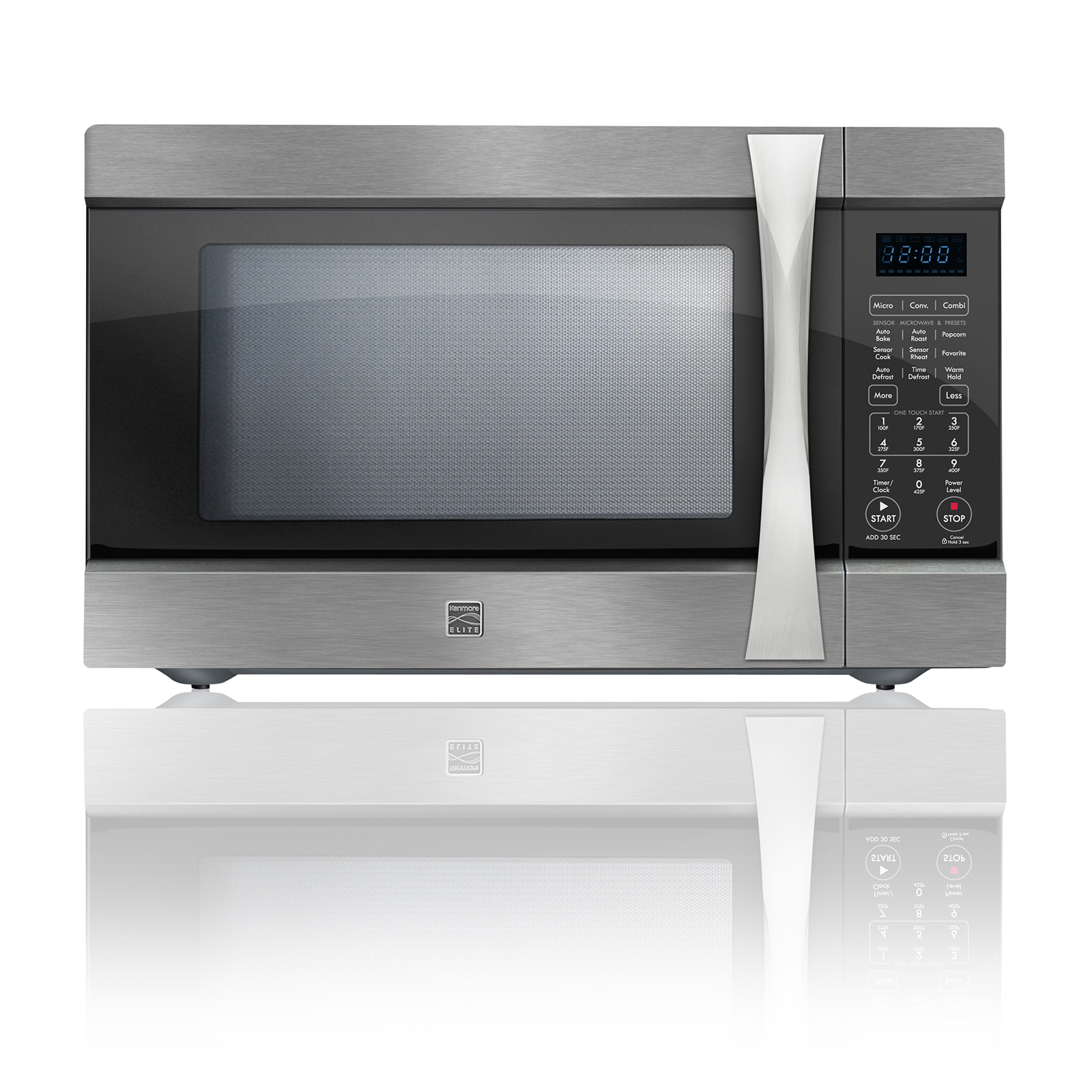 Countertop Microwave Convection Ovens Kenmore Elite 74153 1 5 Cu Ft Countertop Microwave W