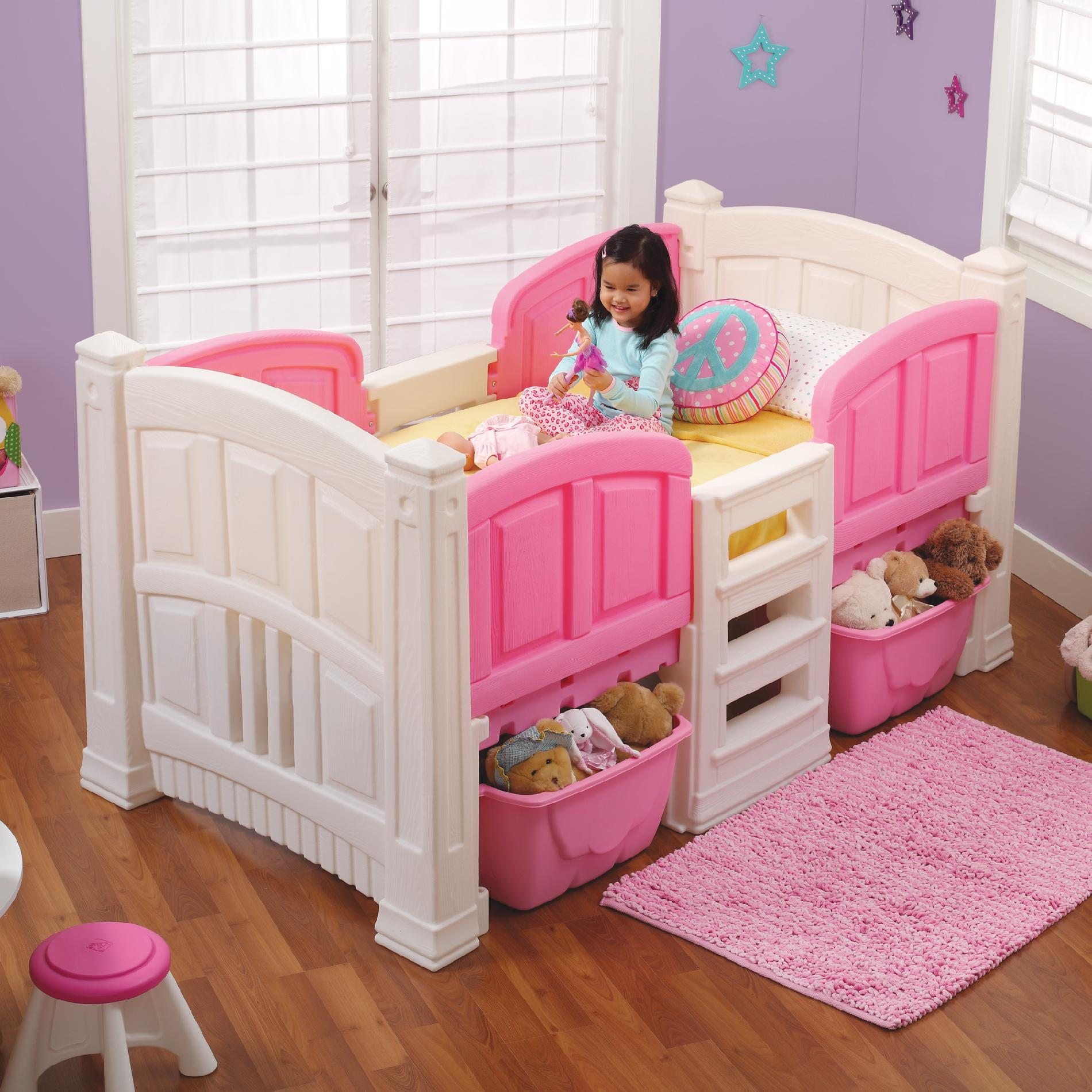 Double Loft Bed For Kids Step 2 Girl 39s Loft And Storage Twin Bed Baby Toddler