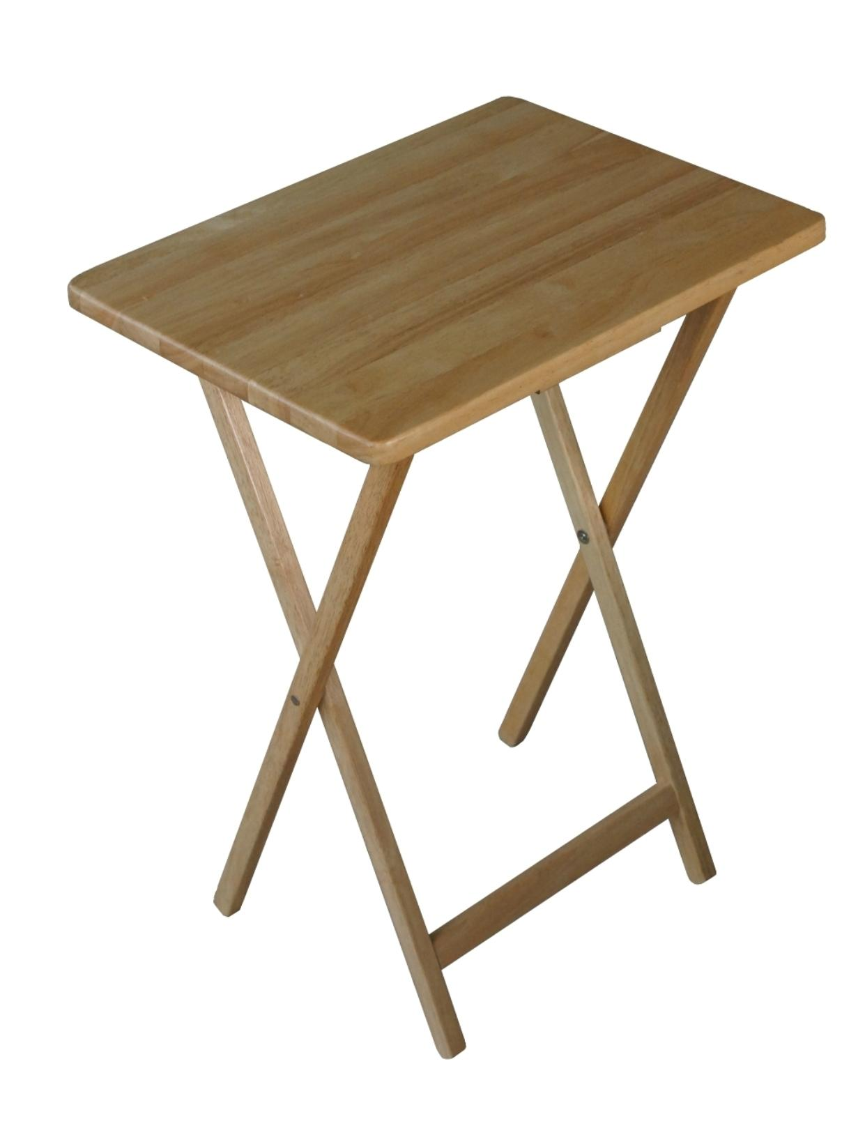 Folding Wooden Tv Tray Table Natural