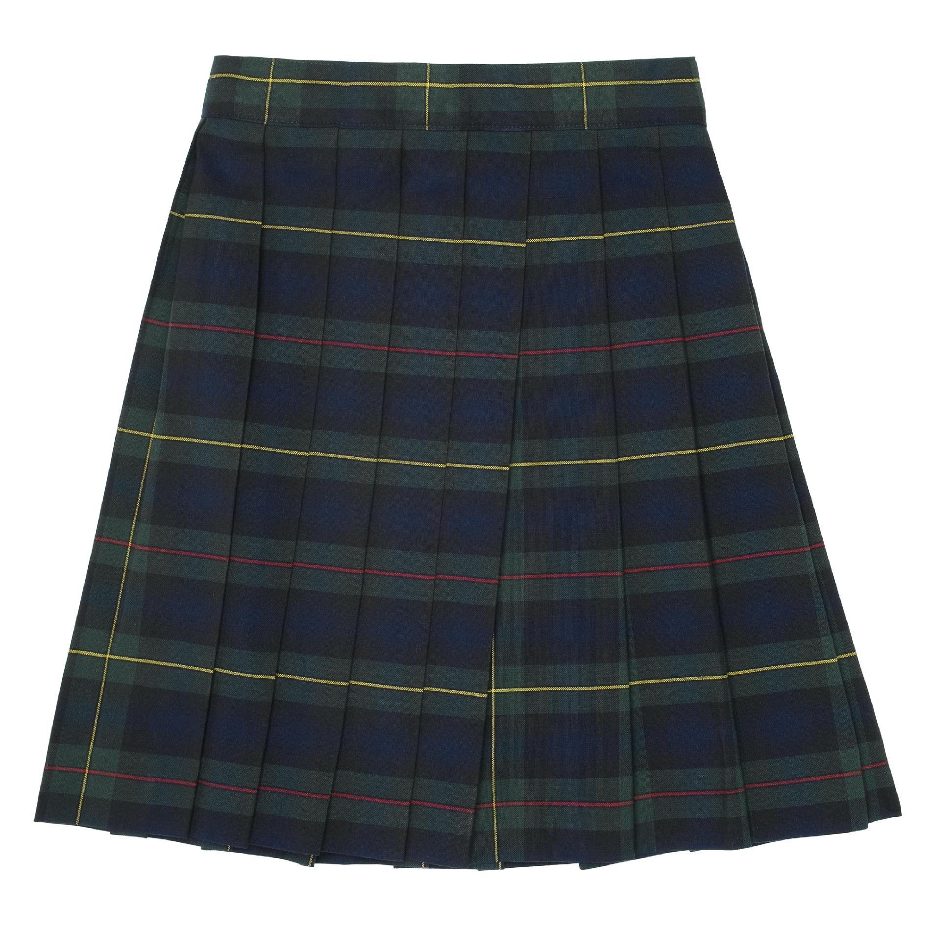 School Skirts Kmart At School By French Toast Plus Size Green Plaid Pleated Skirt