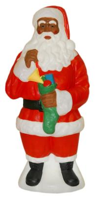 General Foam Plastics Light-UP African American Santa ...
