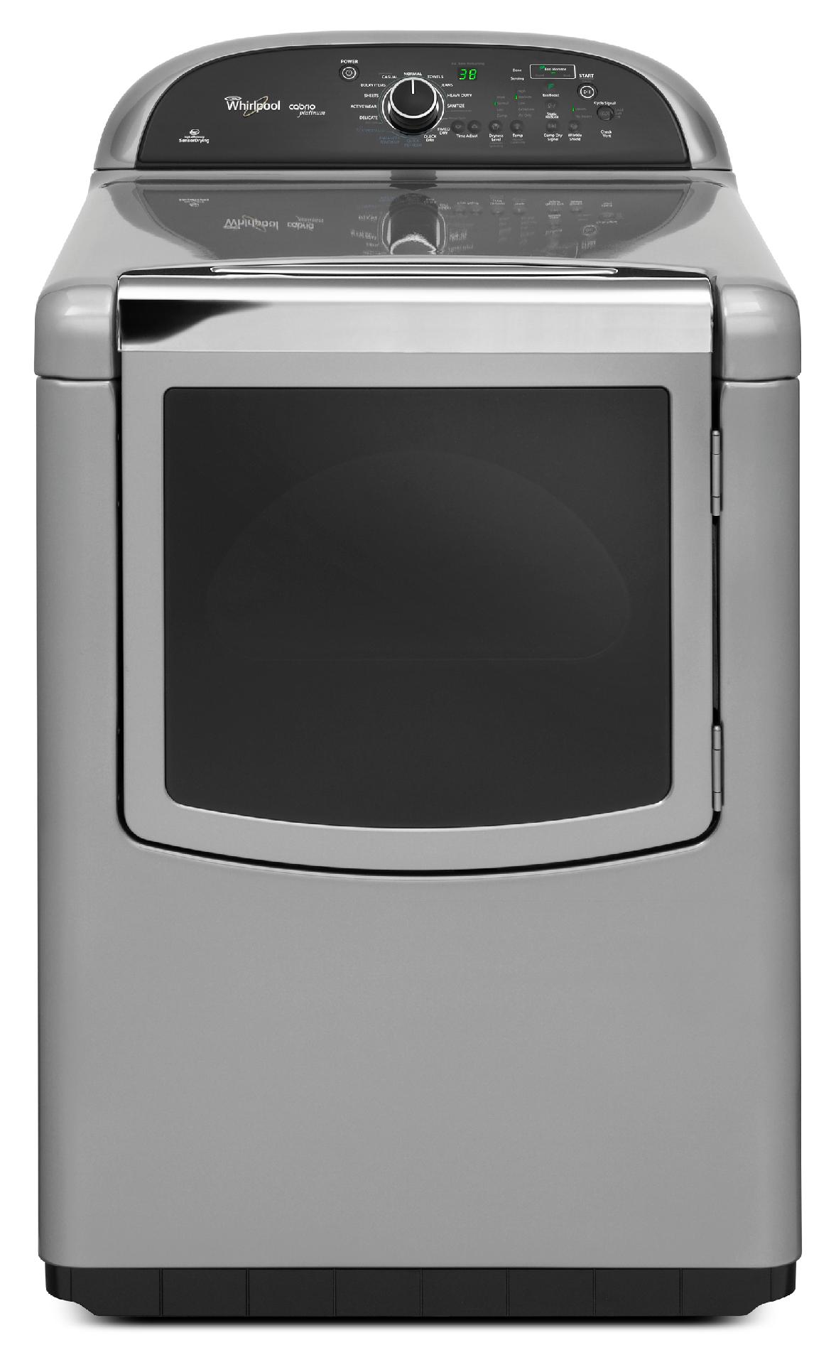 Whirlpool Wed8900bc 7 6 Cu Ft Cabrio Platinum - Whirlpool Steam Dryer