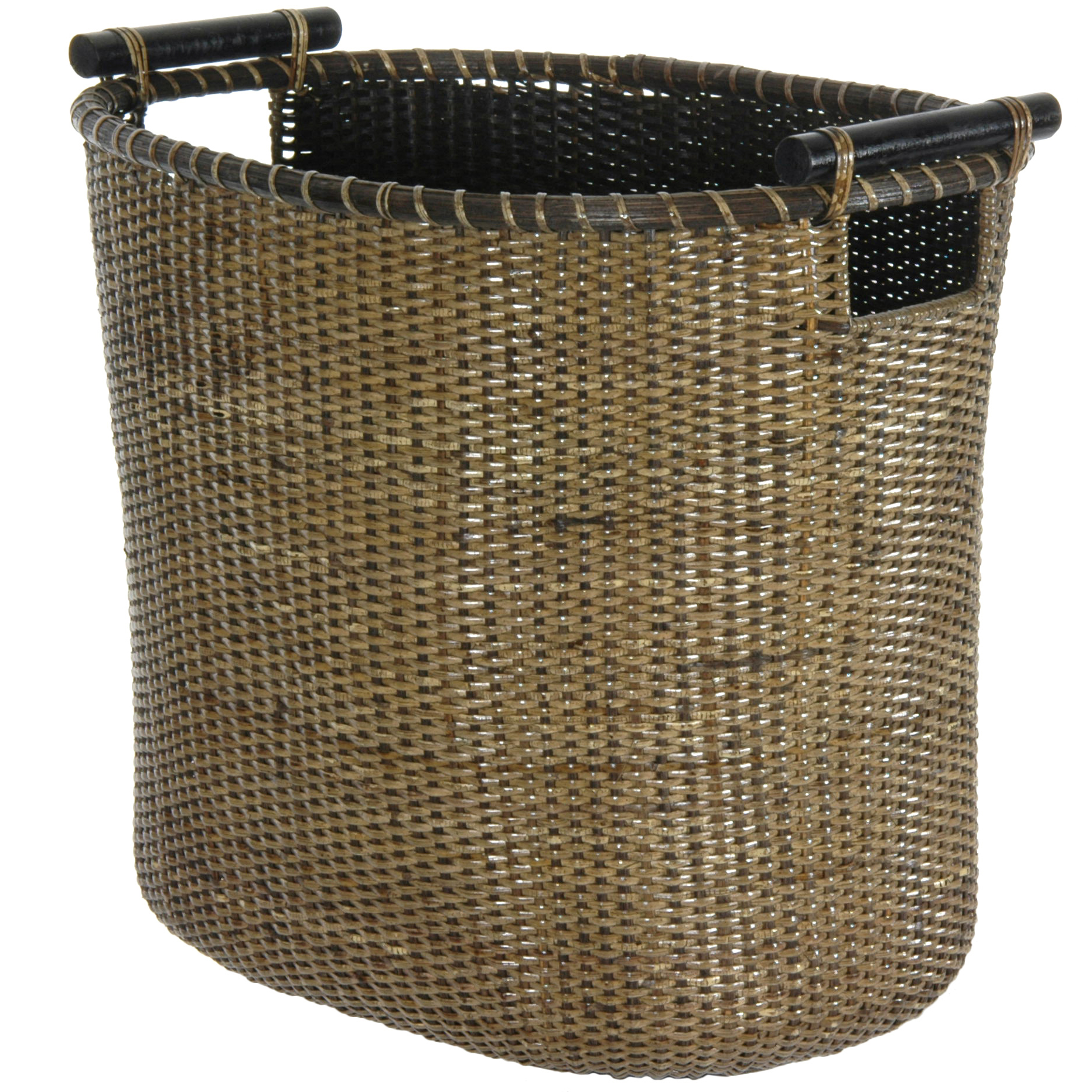 Decorative Laundry Baskets Oriental Furniture Rattan Laundry Hamper With Pole Handles