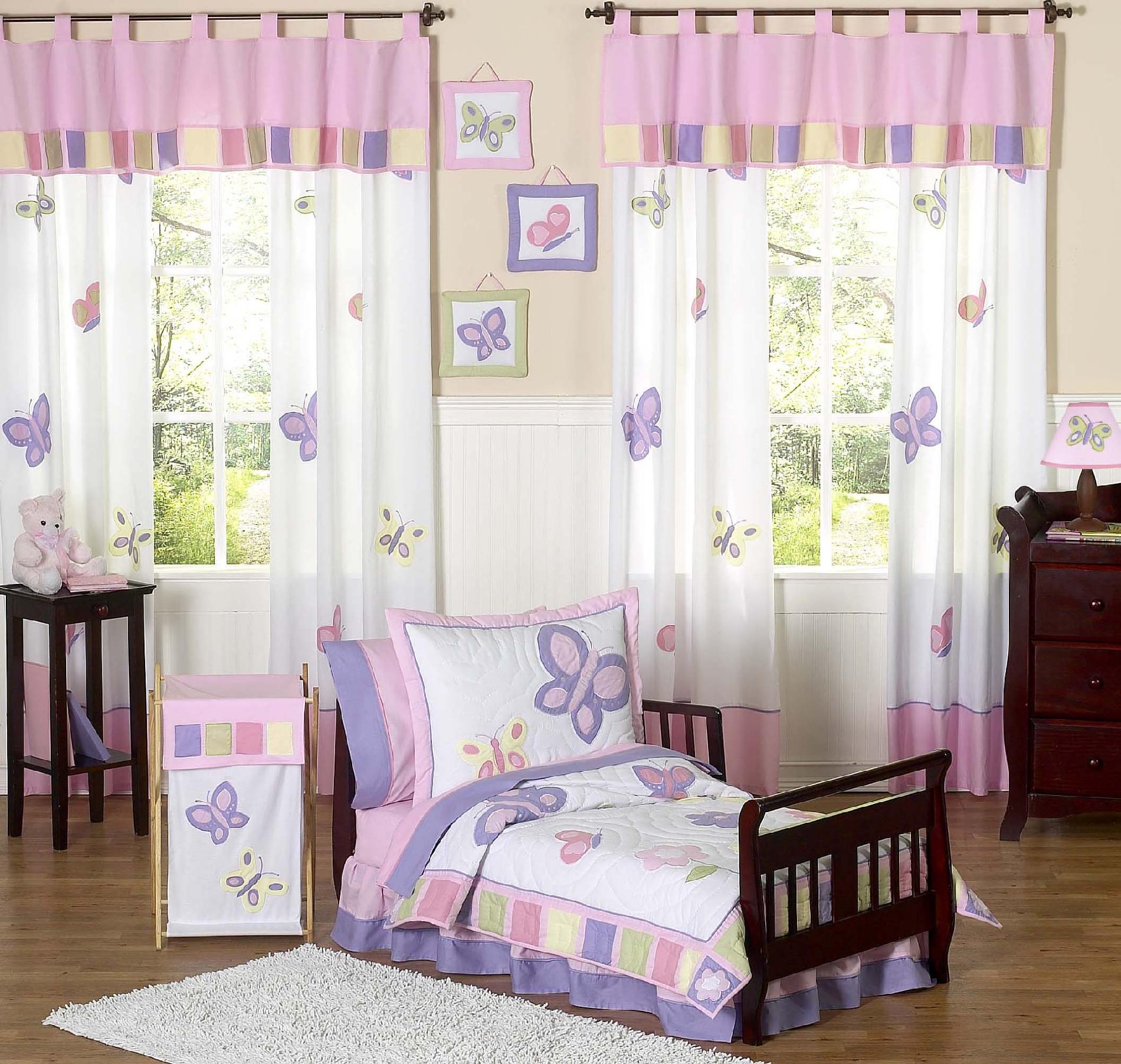 Designer Toddler Bed Sweet Jojo Designs Butterfly Pink And Purple Collection 5pc