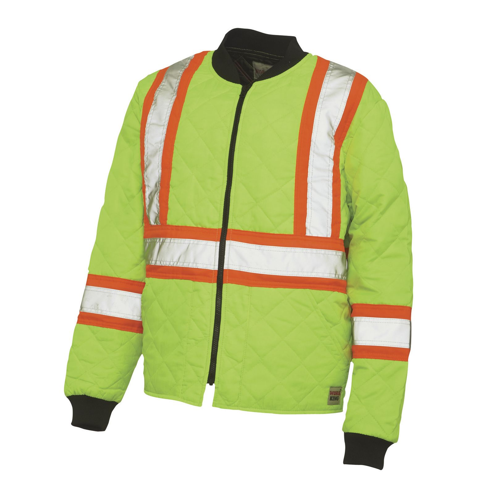 Work King Freezer Jacket Upc 770167591740 Work King High Visibility Quilted Safety Jacket
