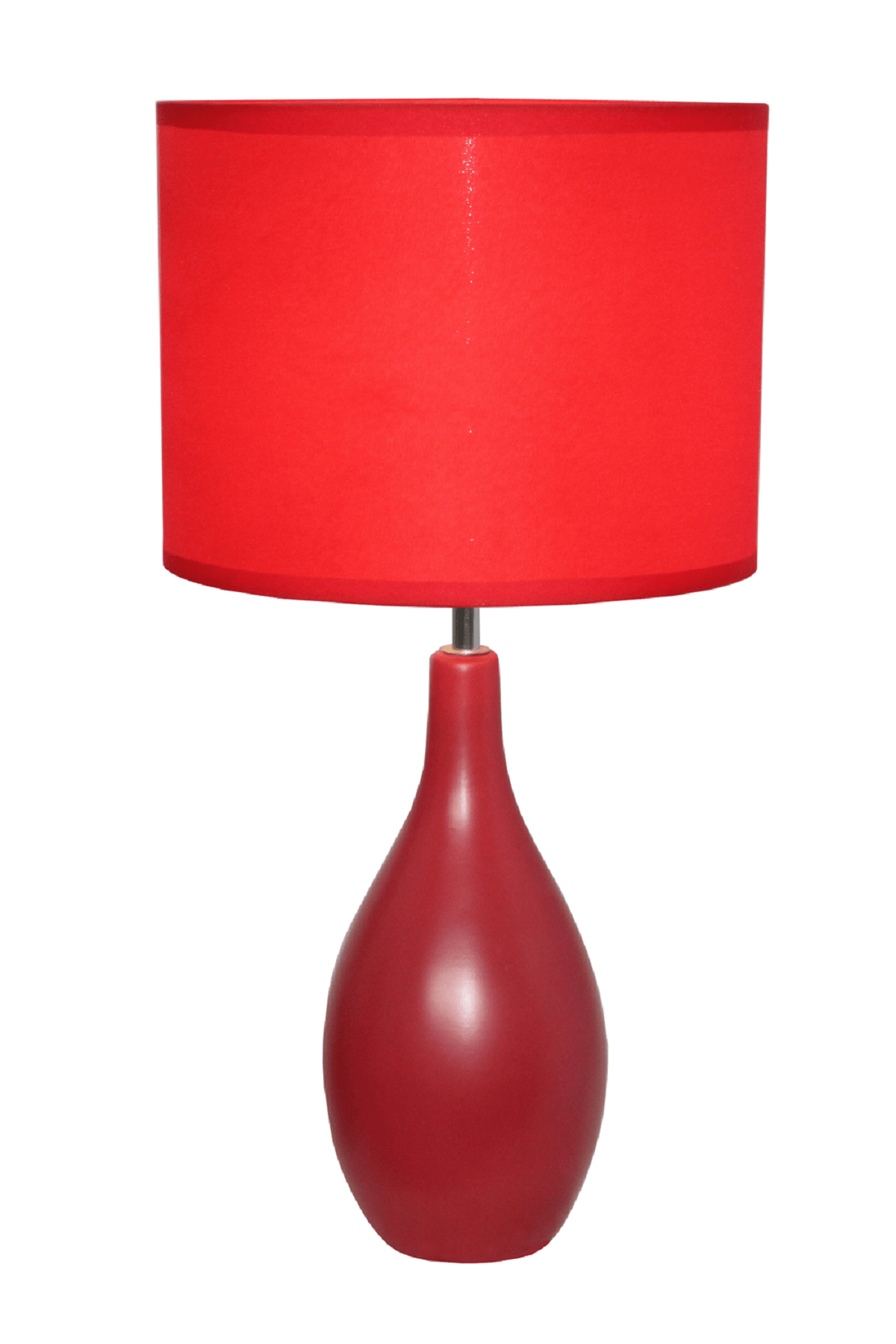 Red And White Table Lamp Simple Designs Red Oval Base Ceramic Table Lamp Home