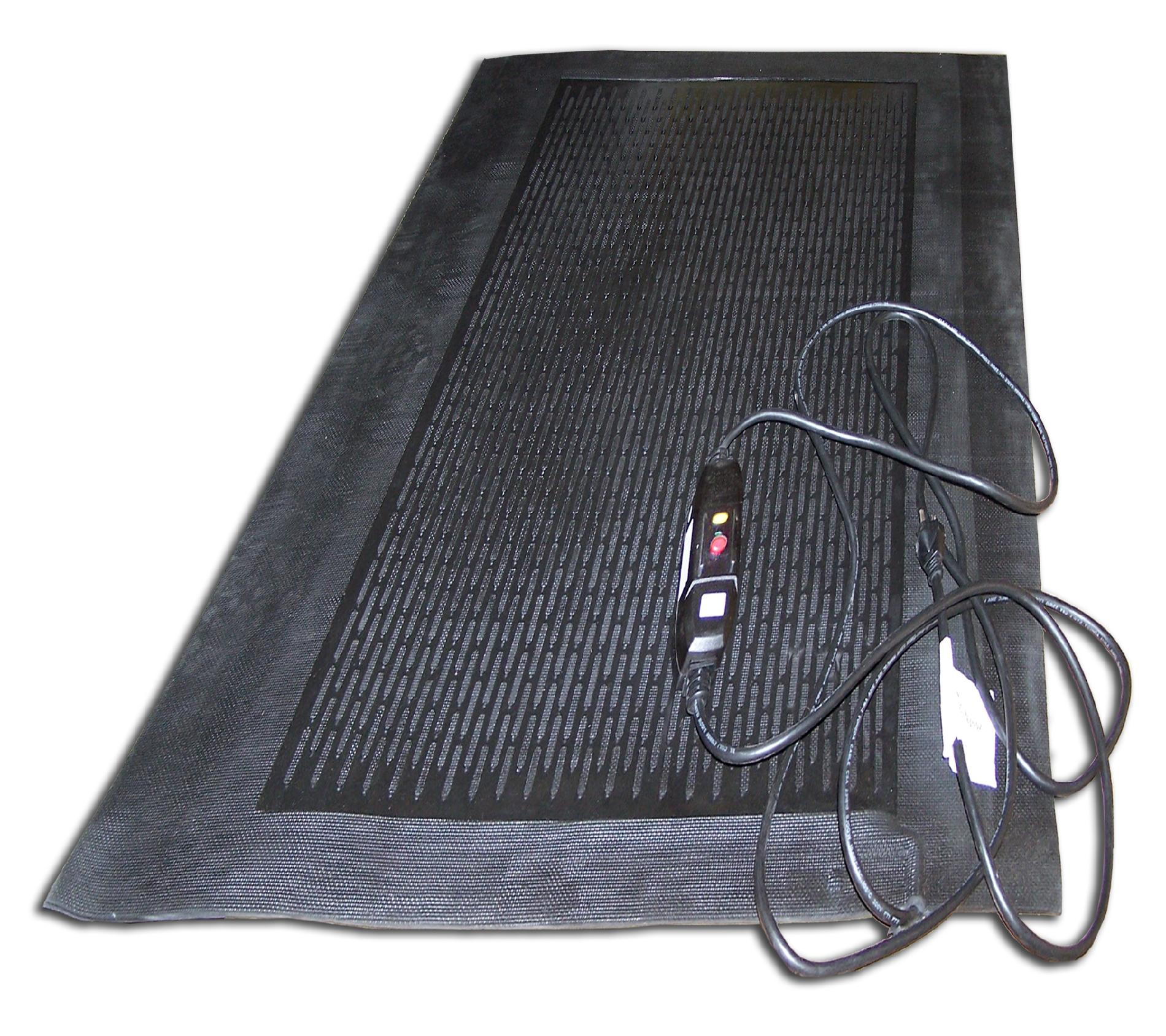Home Depot Ice Melt Cozy Products Ice Away Heated Foot Mat Black Appliances