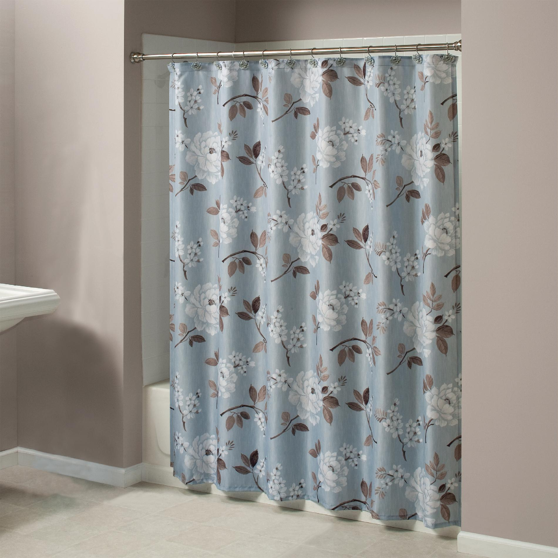 Bathroom Shower Curtains And Accessories Essential Home Shower Curtain Whisper It Fabric Curtain