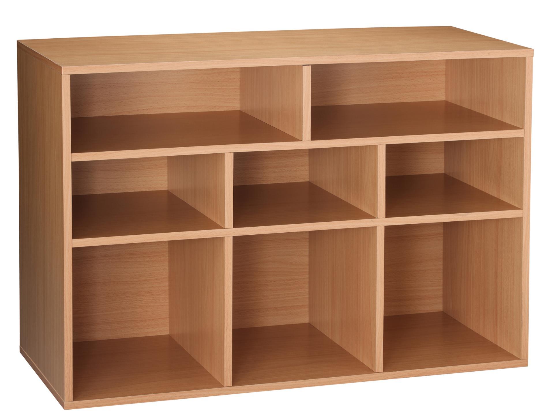 8 Cube Oak Finish Storage Unit Versatile Home Organizer