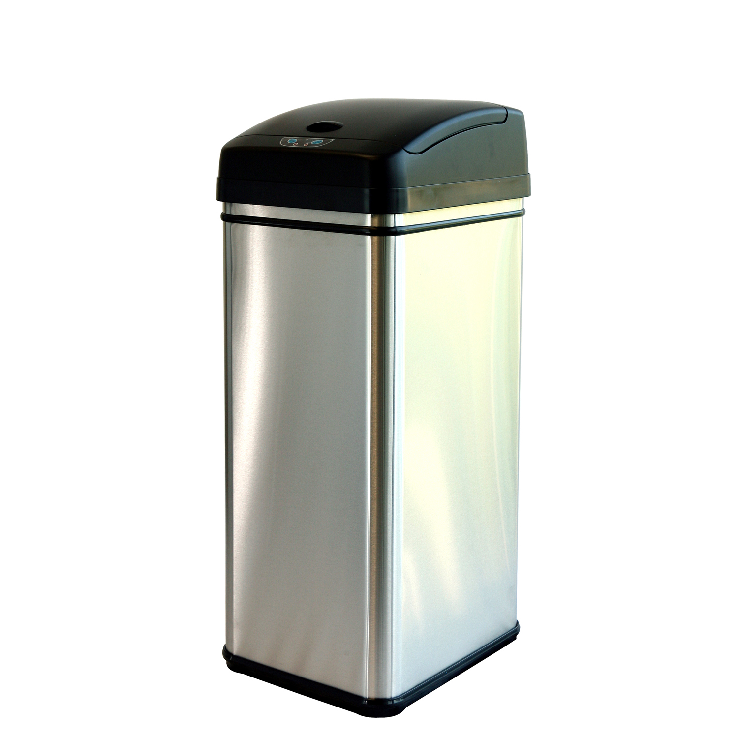 Trash Cans For Kitchen Itouchless Itouchless 16 Gallon Dual Compartment Automatic