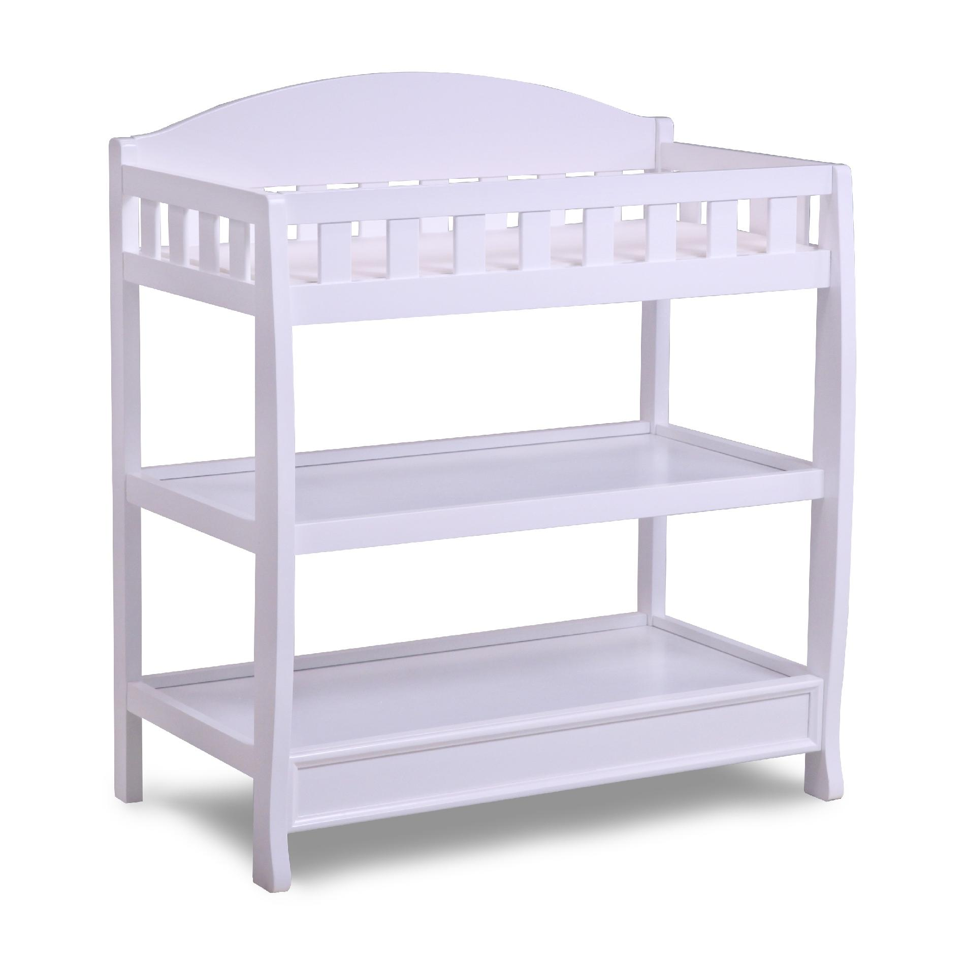 Baby Wickeltisch Delta Children White Changing Table With Pad - Baby - Baby