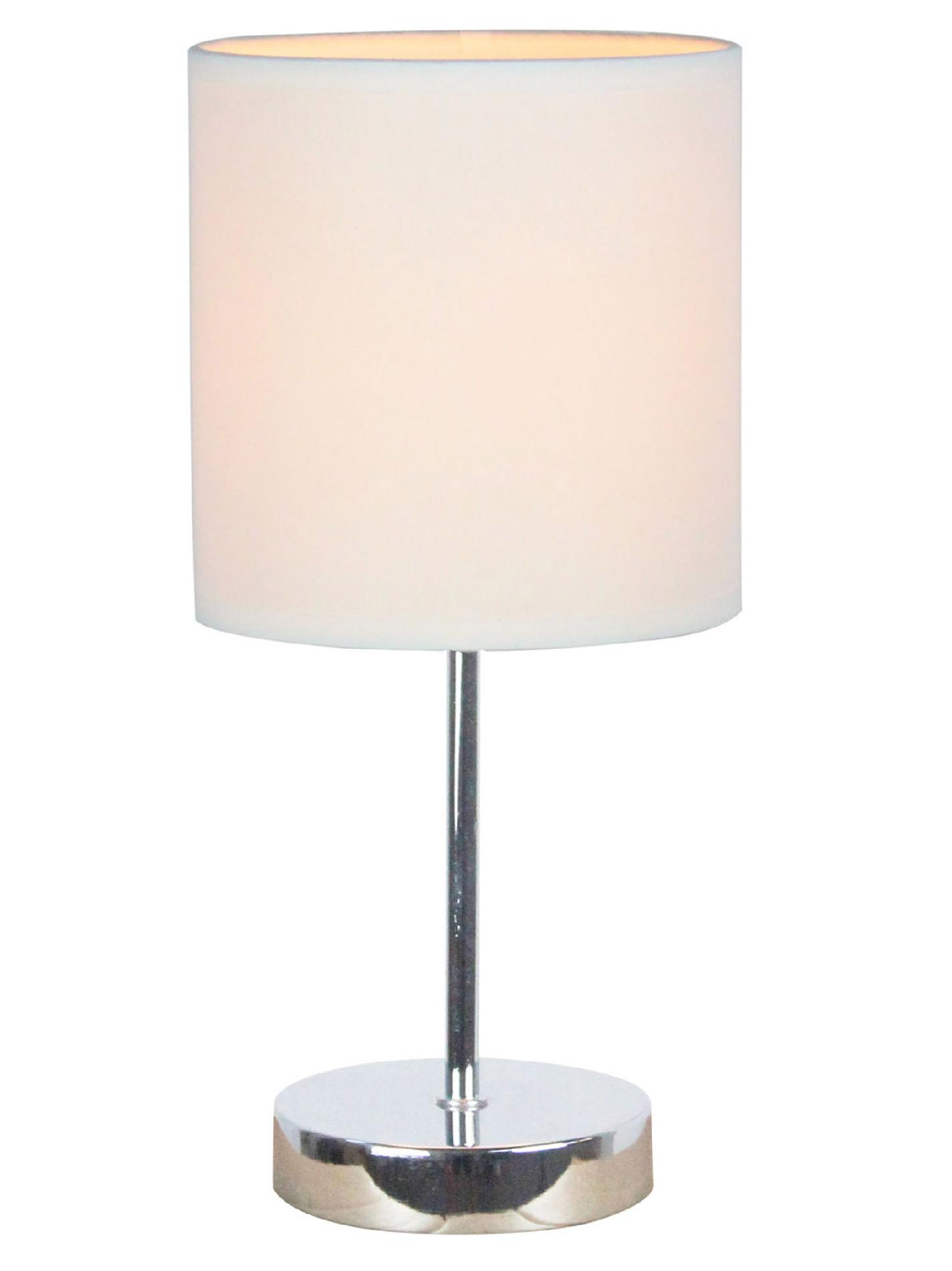 Simple Table Lamp Simple Designs Chrome Mini Basic Table Lamp With White Shade