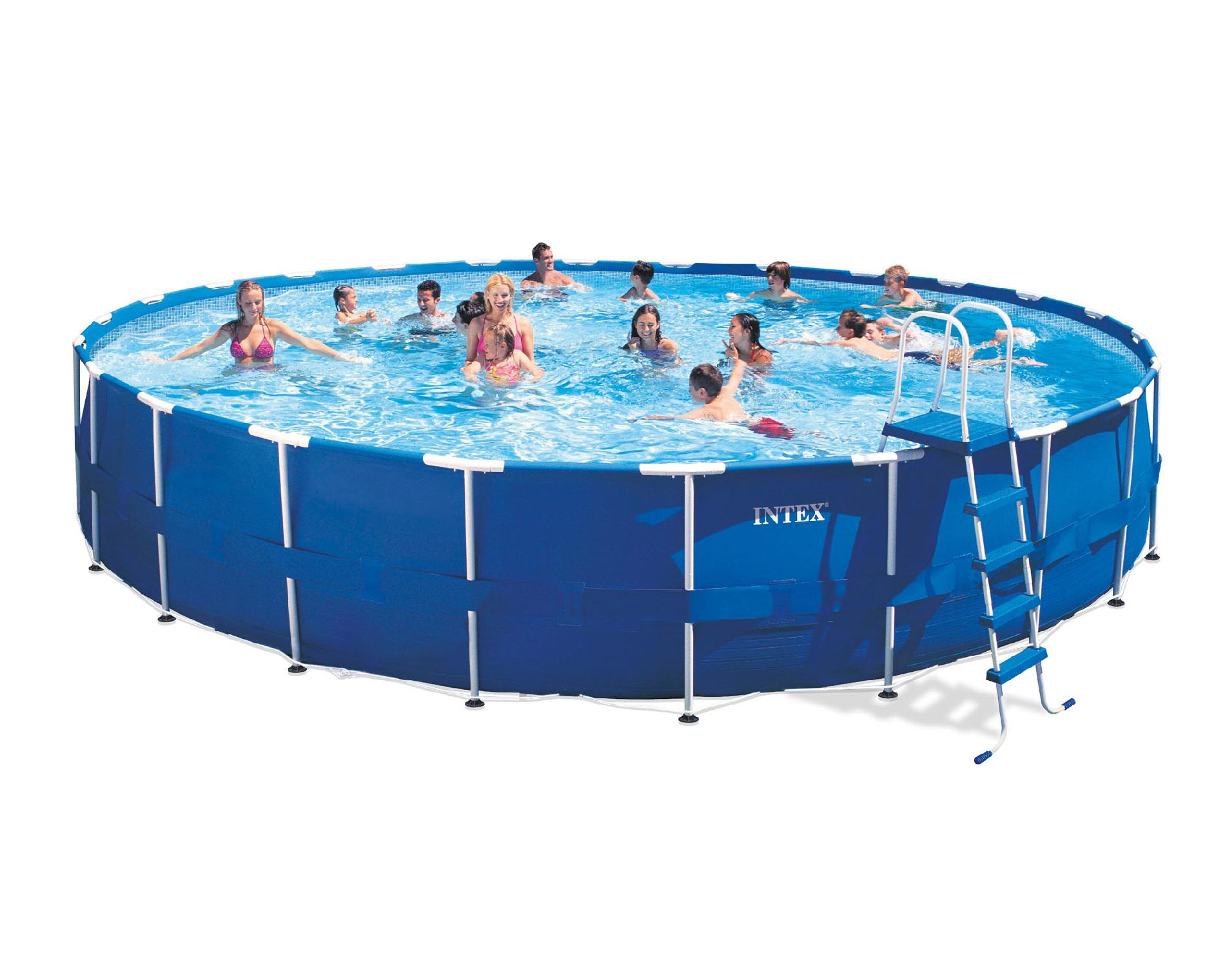 Intex Pool Frame Rund Upc 078257301775 Intex 24 Foot Easy Set Up Metal Frame Pool