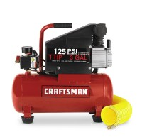 Craftsman 3 Gallon Horizontal Air Compressor with Hose and ...