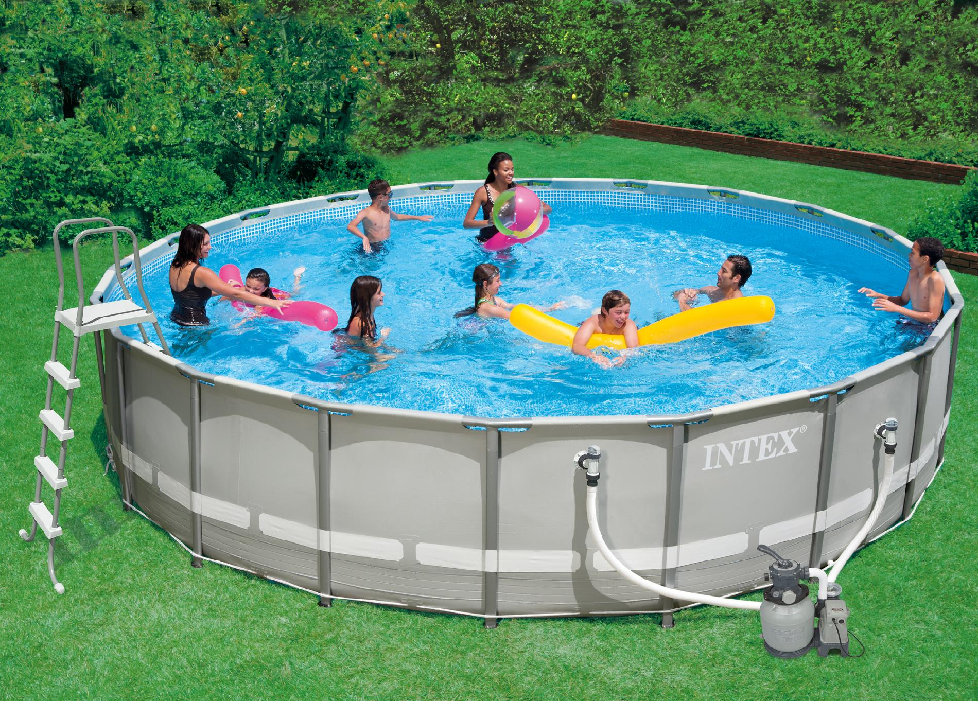 Frame Pool Rund 300 X 100 Adripelayo354 14 Ft Intex Pool Images