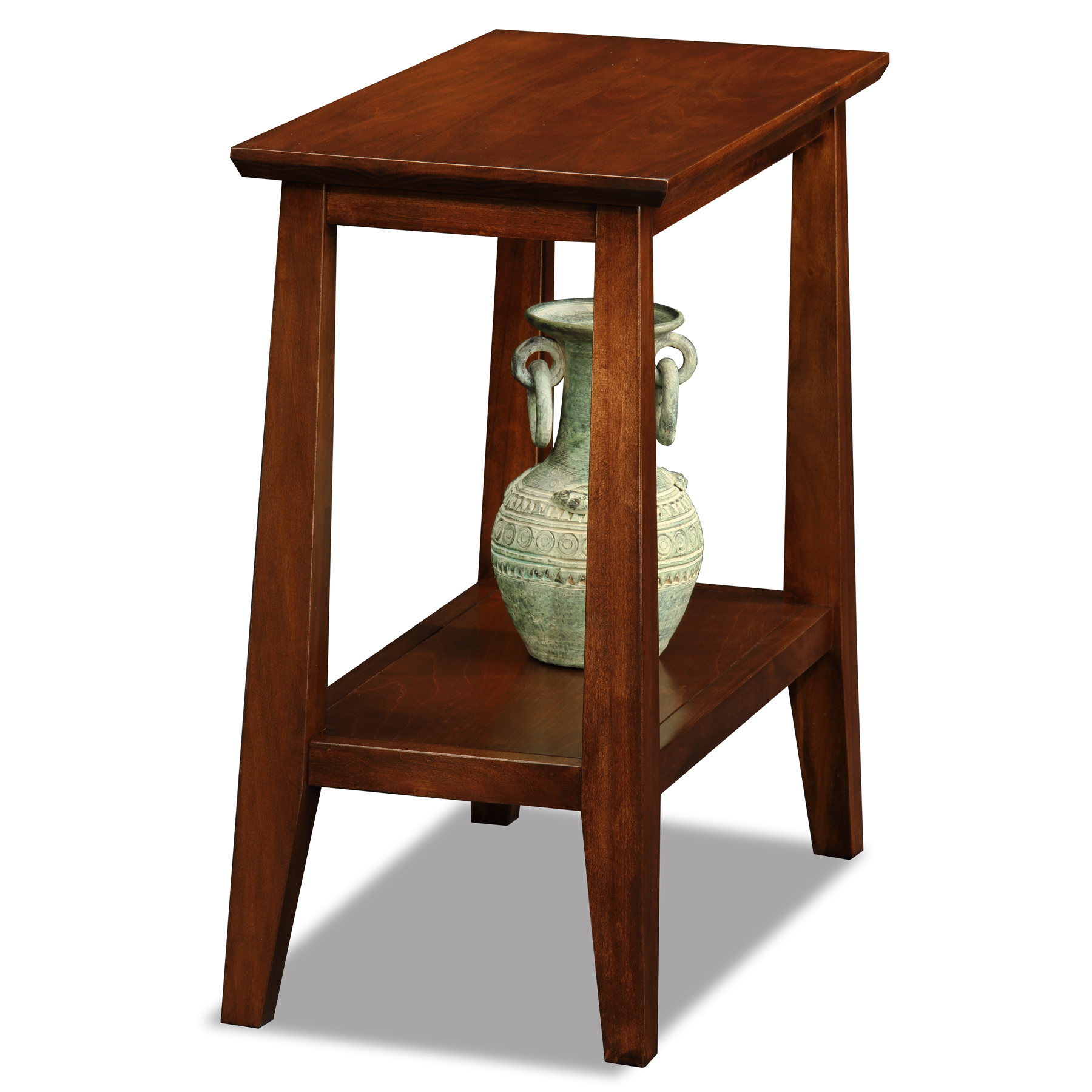 Modern Chairside Table Leick Delton Narrow Chairside Solid Wood End Table