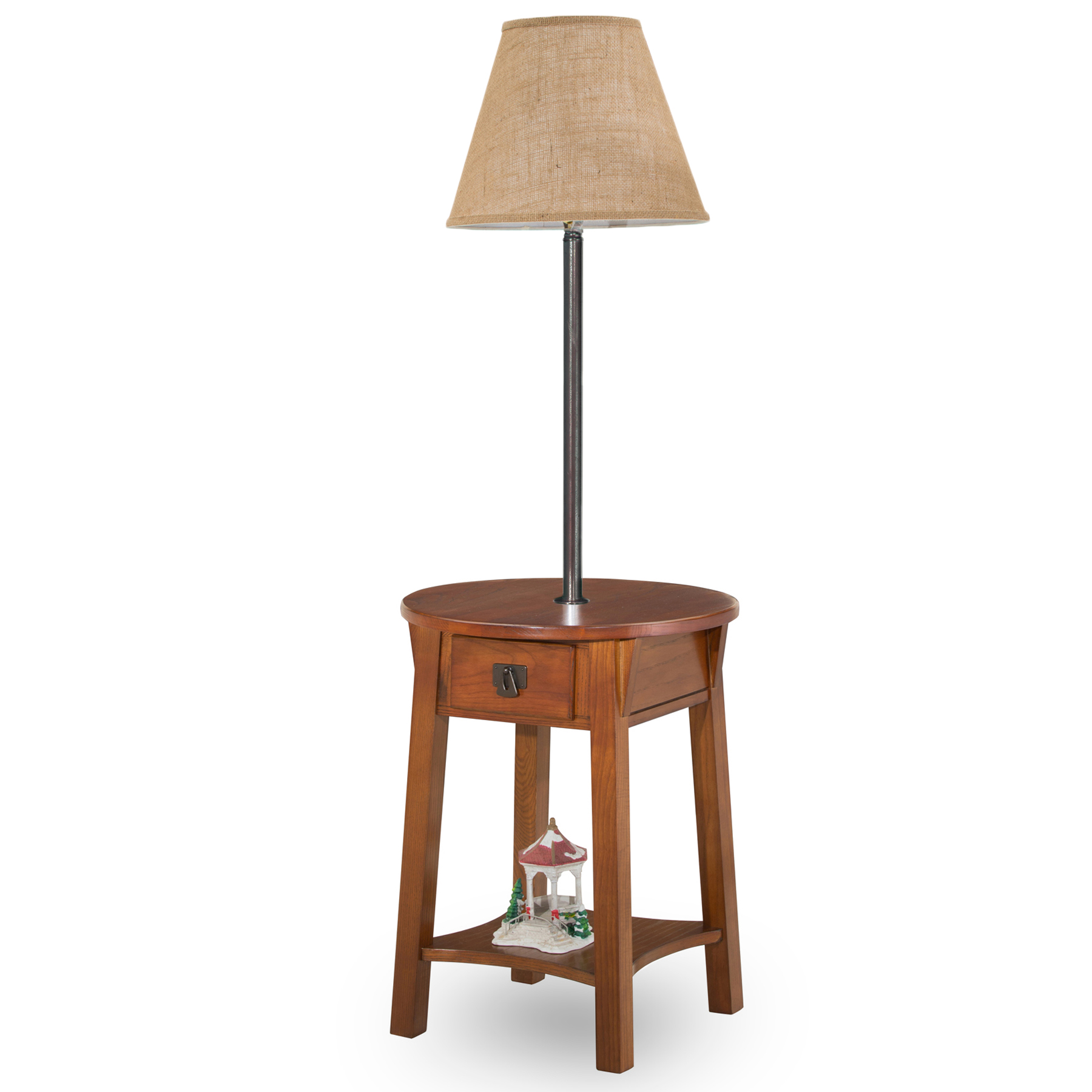 Leick Chocolate Chairside Solid Wood Lamp Table