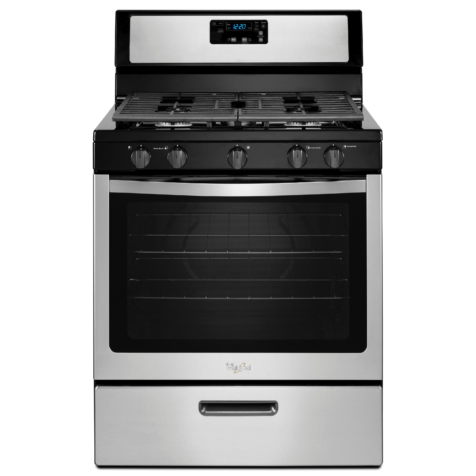 Whirlpool Countertop Stove Whirlpool Wfg505m0bs 5 1 Cu Ft Gas Range W Griddle Stainless