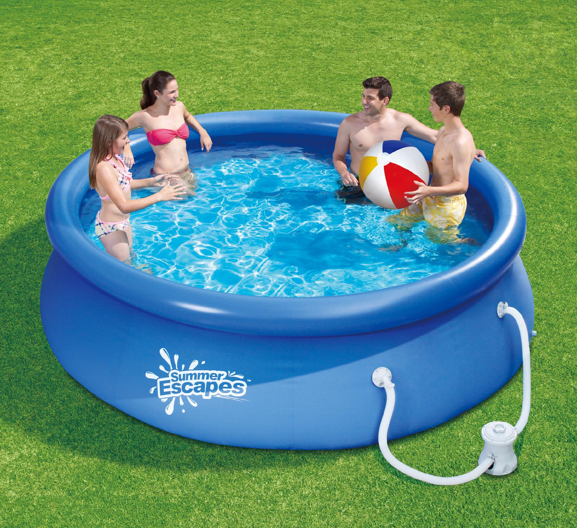 Chlortabletten Quick Up Pool Summer Escapes 10ft By 30in Quick Set Ring Pool Set Sears