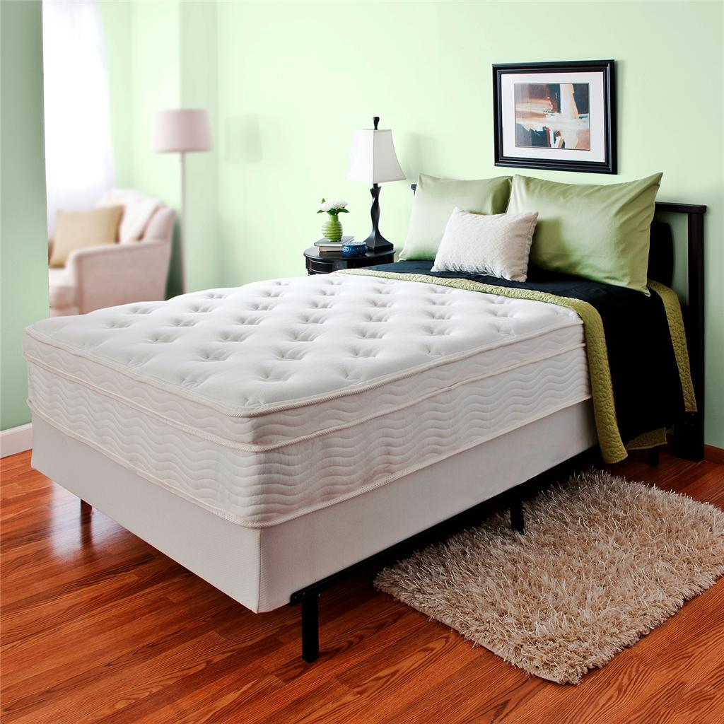 Boxspring Bed Night Therapy 13 Inch Spring Mattress And Bi Fold Box