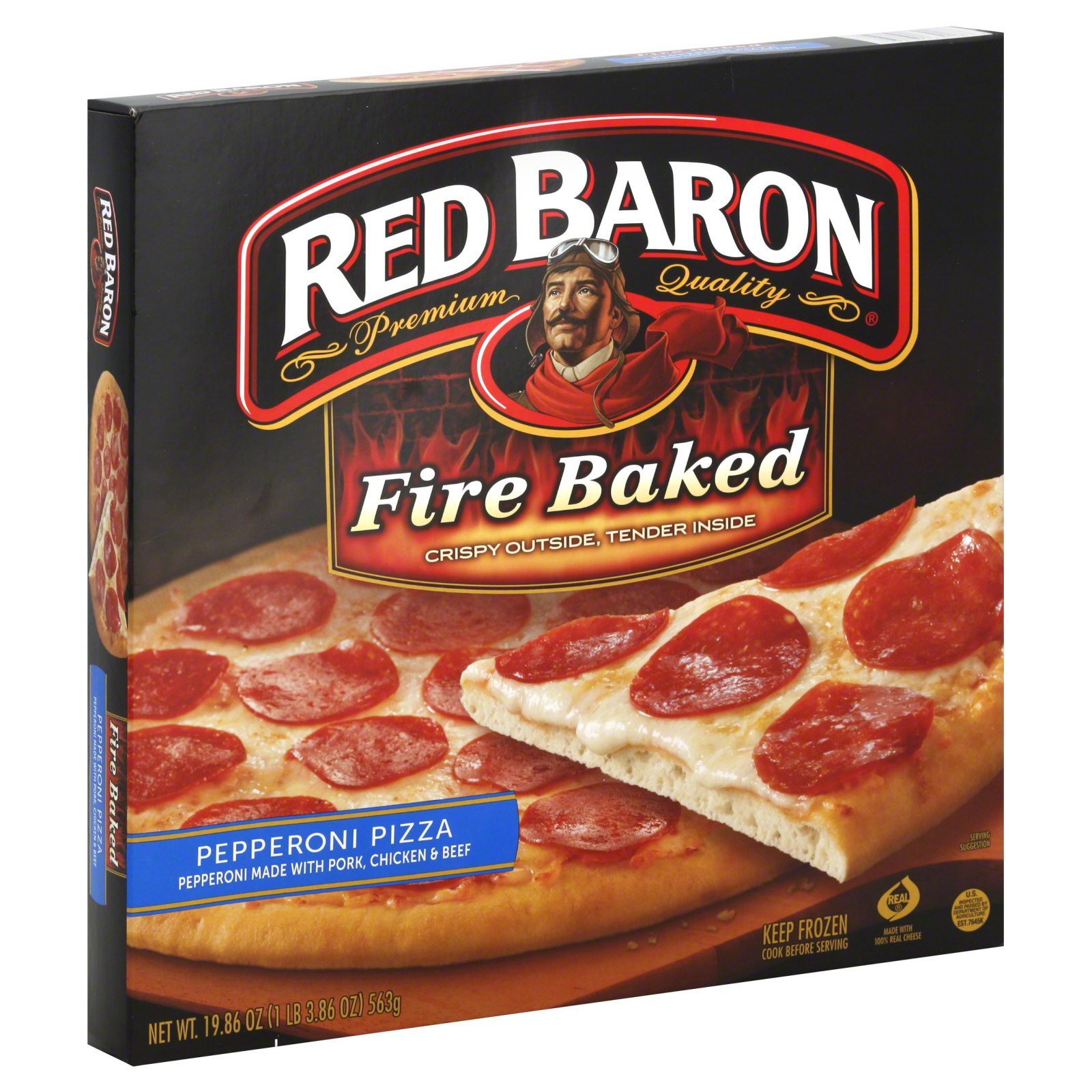 Pizzastand Oven Red Baron Pizza Fire Baked Pepperoni 19 86 Oz 1 Lb 3 86 Oz