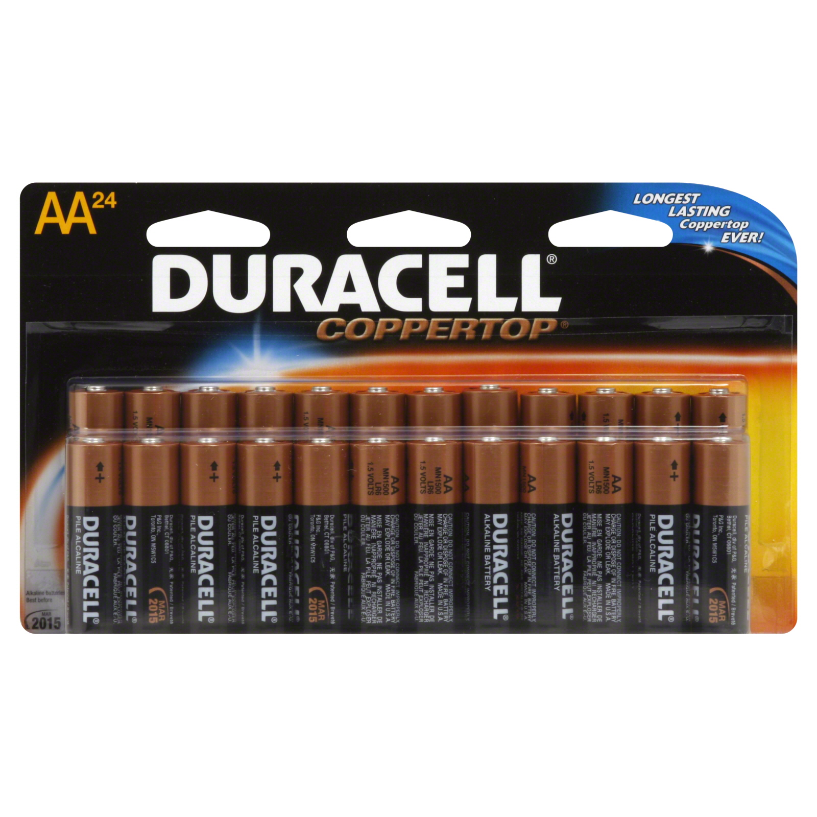 Batterie Aa Duracell 27035 Coppertop Alkaline Batteries Double Wide