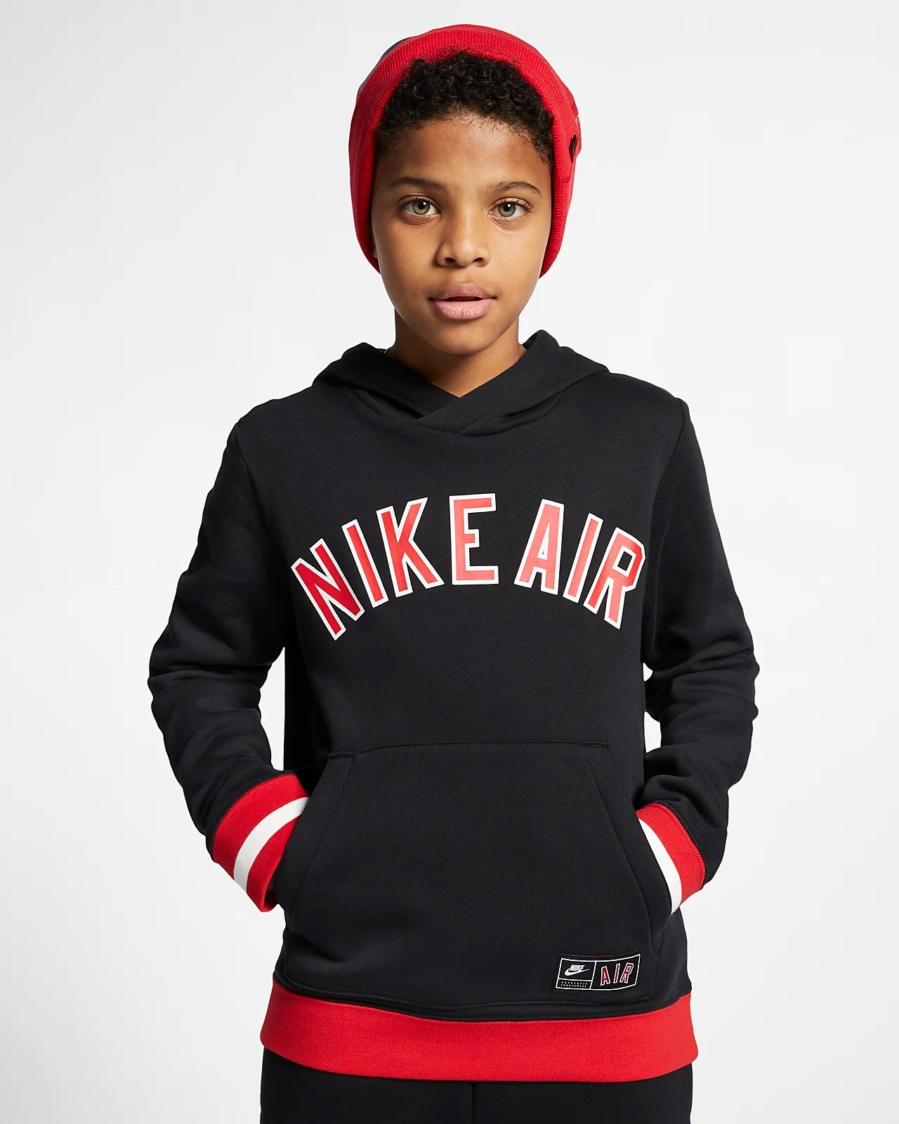 Nike Fleece Kinder Nike Air Older Kids Fleece Pullover Hoodie