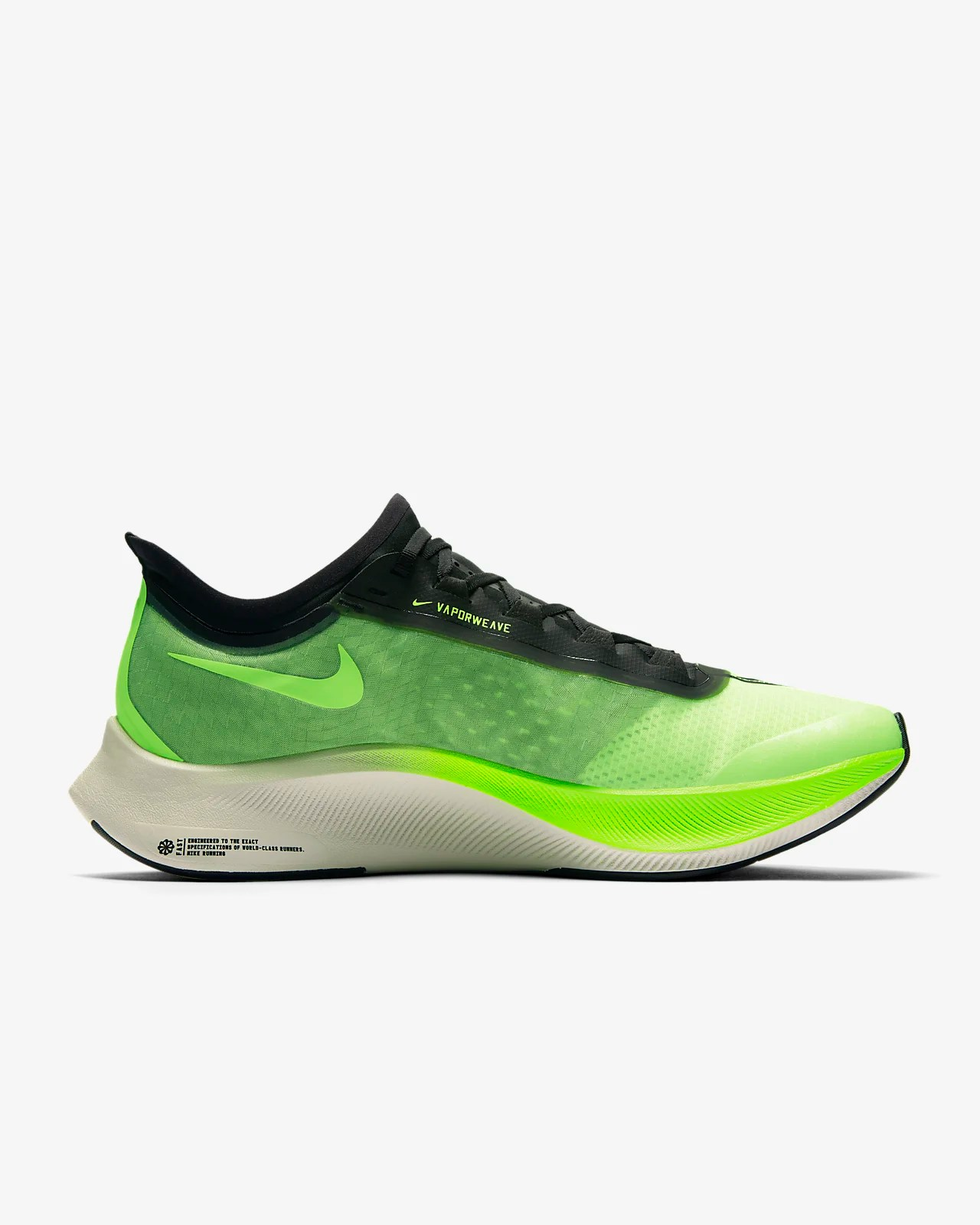 Nike Zoom Grey And Green Nike Zoom Fly 3 Men S Running Shoe