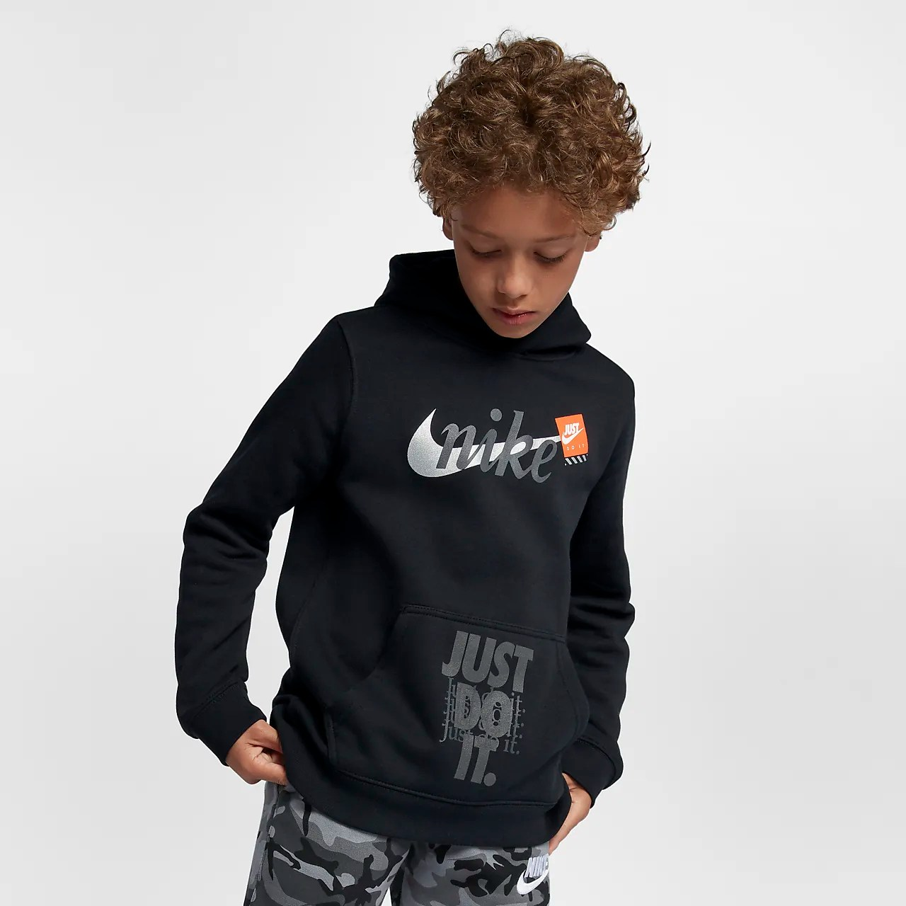 Nike Do Nike Sportswear Big Kids Boys Just Do It Pullover Hoodie