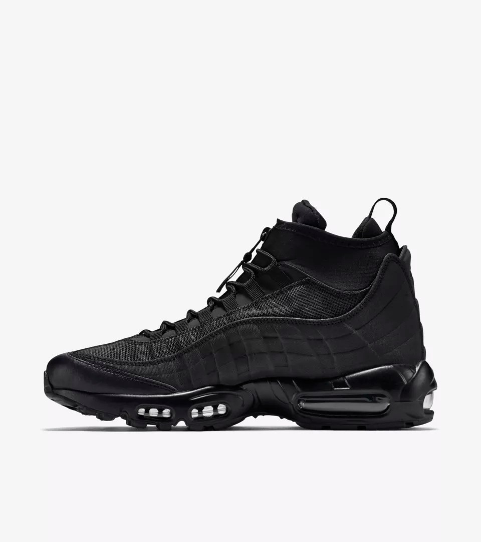 Nike Patike Nike Air Max 95 Sneakerboot Triple Black Nike Snkrs