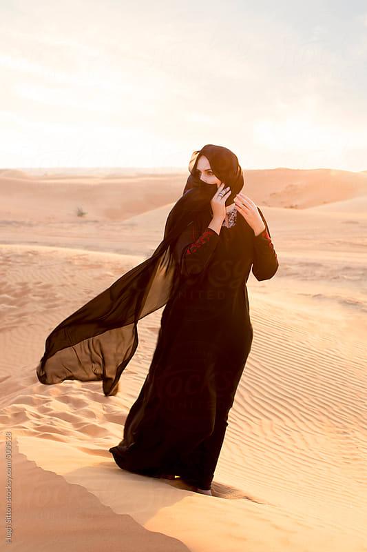 Muslim Beautiful Girl Wallpaper Arabian Woman In Traditional Costume Dubai Desert U A E