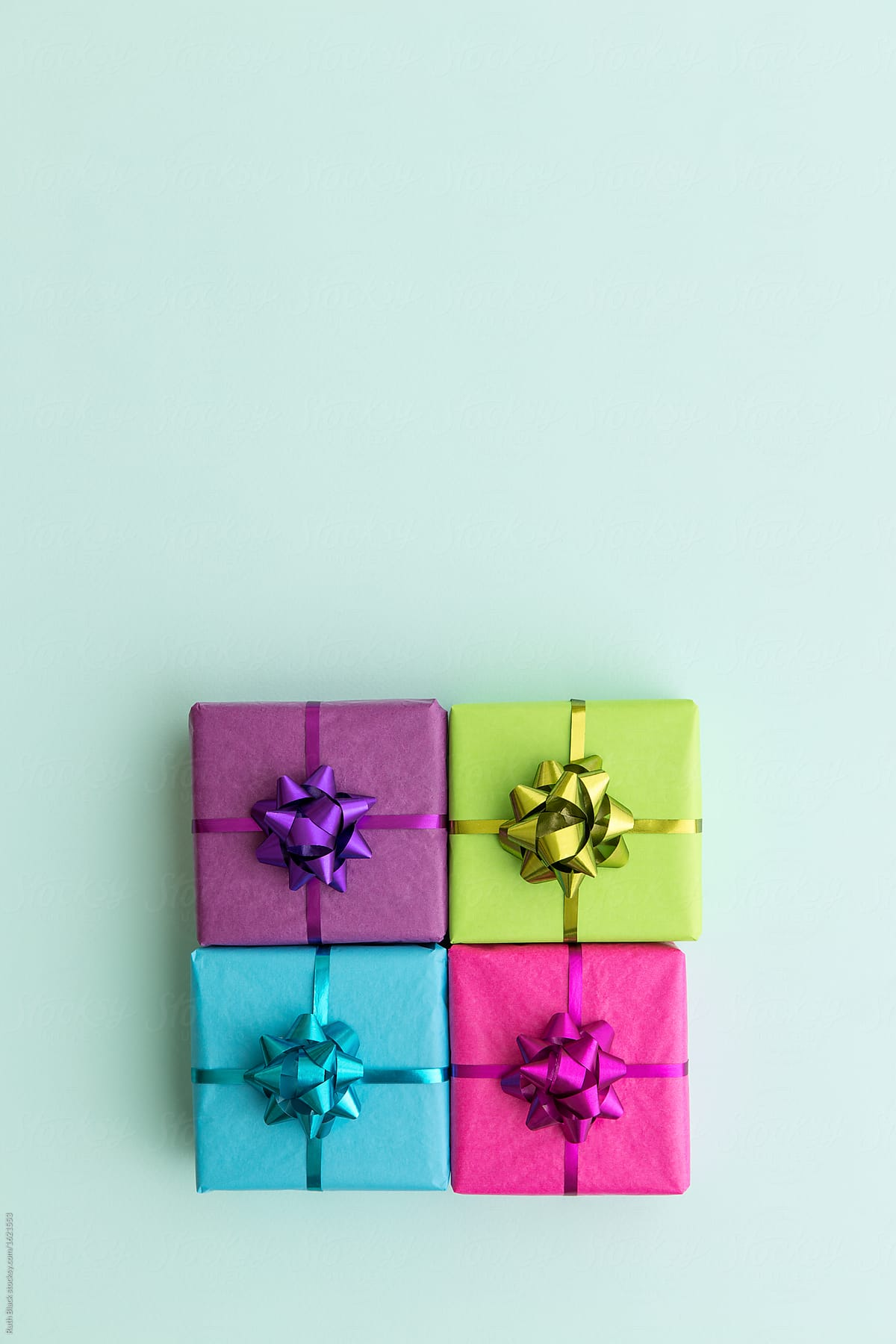 Black Gift Boxes Stock Photo Colorful Gift Boxes