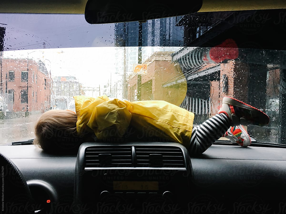 Toddler Car Dashboard Toddler Laying On Dashboard Of Car By Kristine Weilert