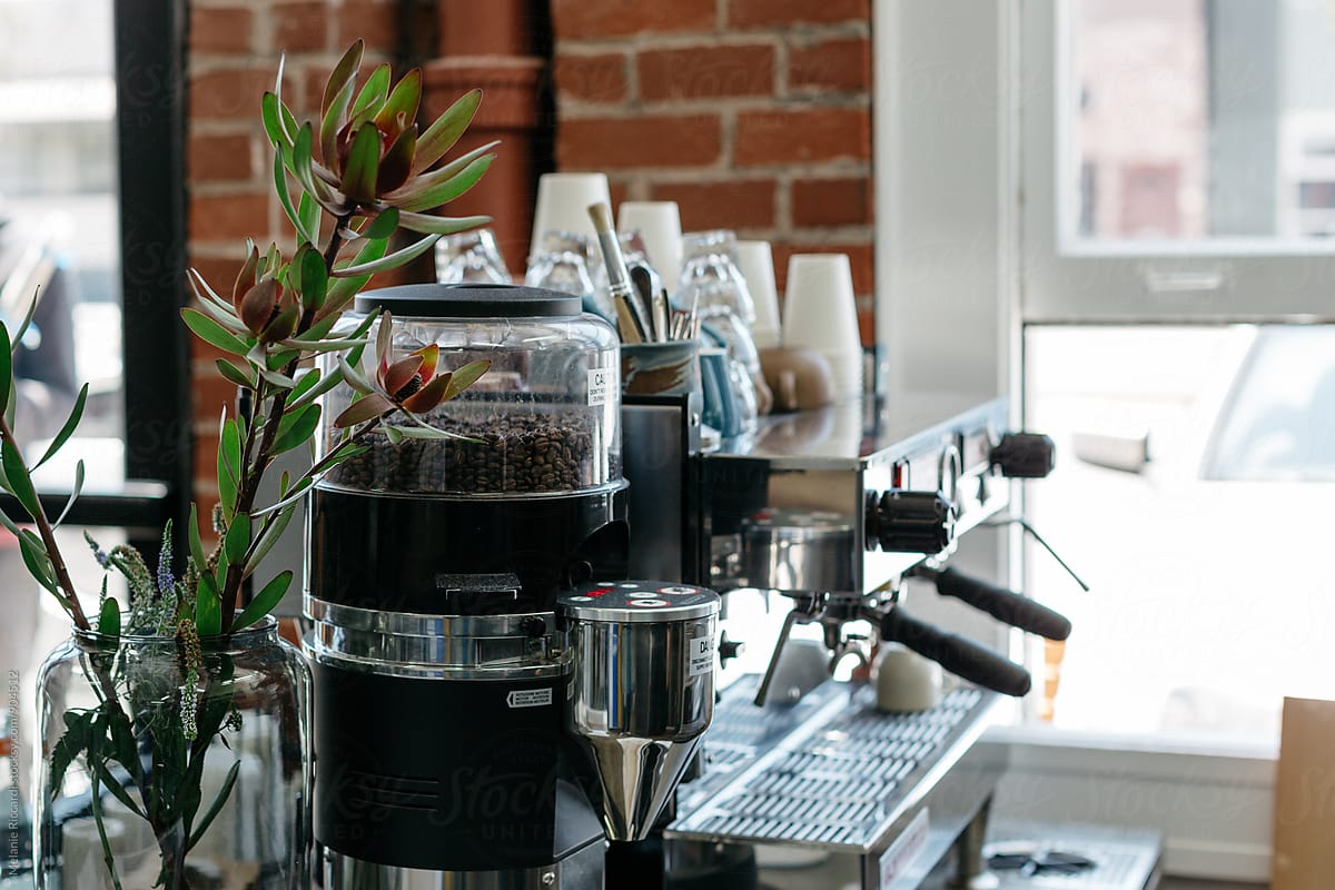 Coffee Station Stock Photo Barista Coffee Station