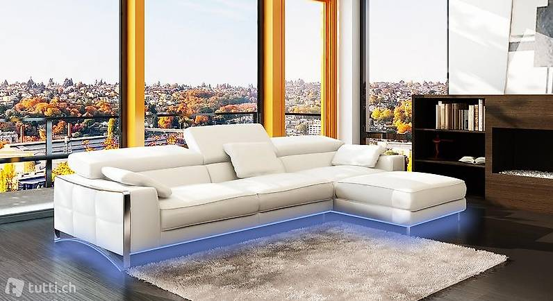 Design Ecken Xxl Big Eck Sofa Leder Garnitur - Möbel Design Zug