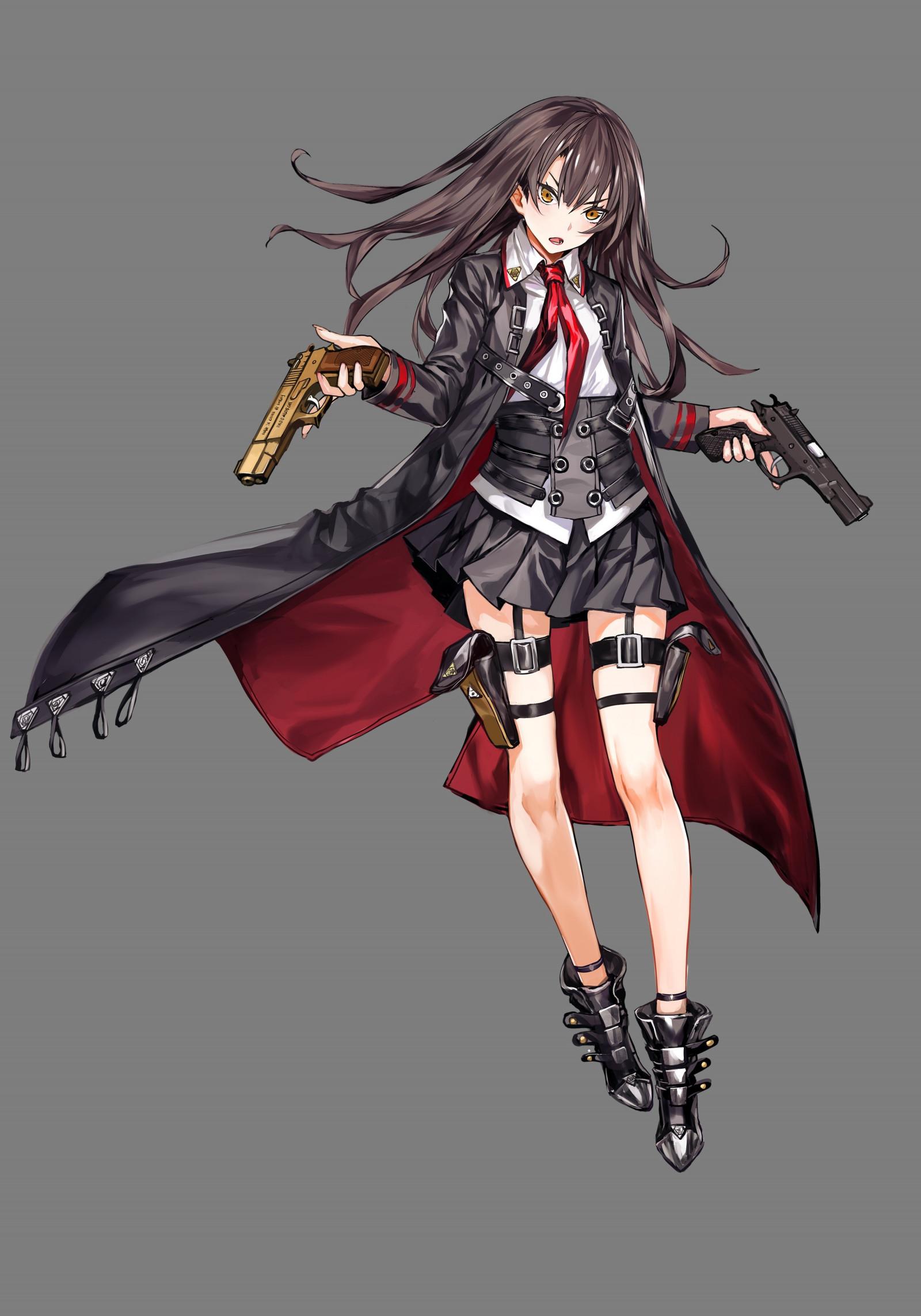 Girl With Sword Wallpaper Fondos De Pantalla Ilustraci 243 N Pistola Pelo Largo