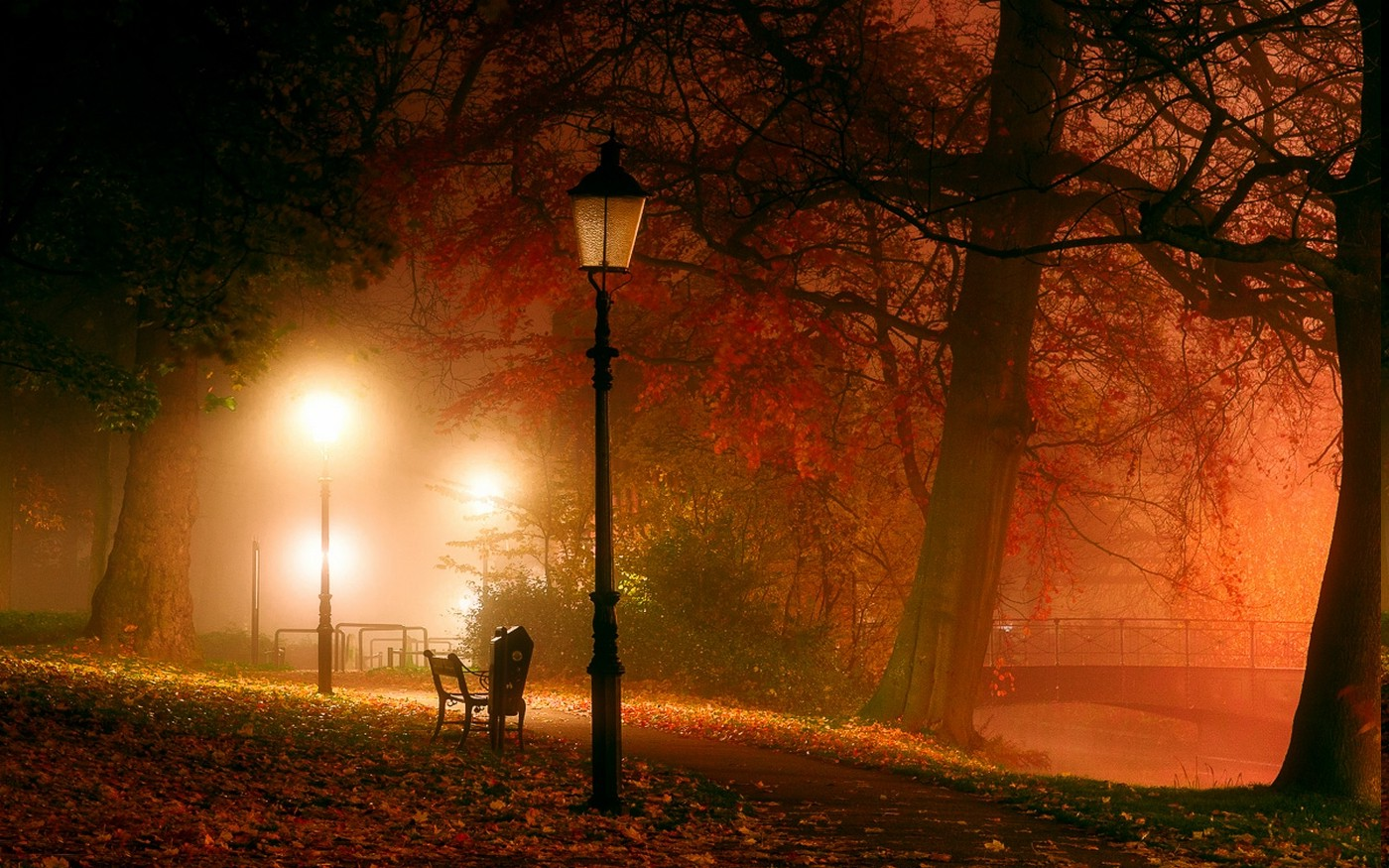 Fall Evening Wallpapers Fondos De Pantalla 1400x875 Px Atm 243 Sfera Banco Puente